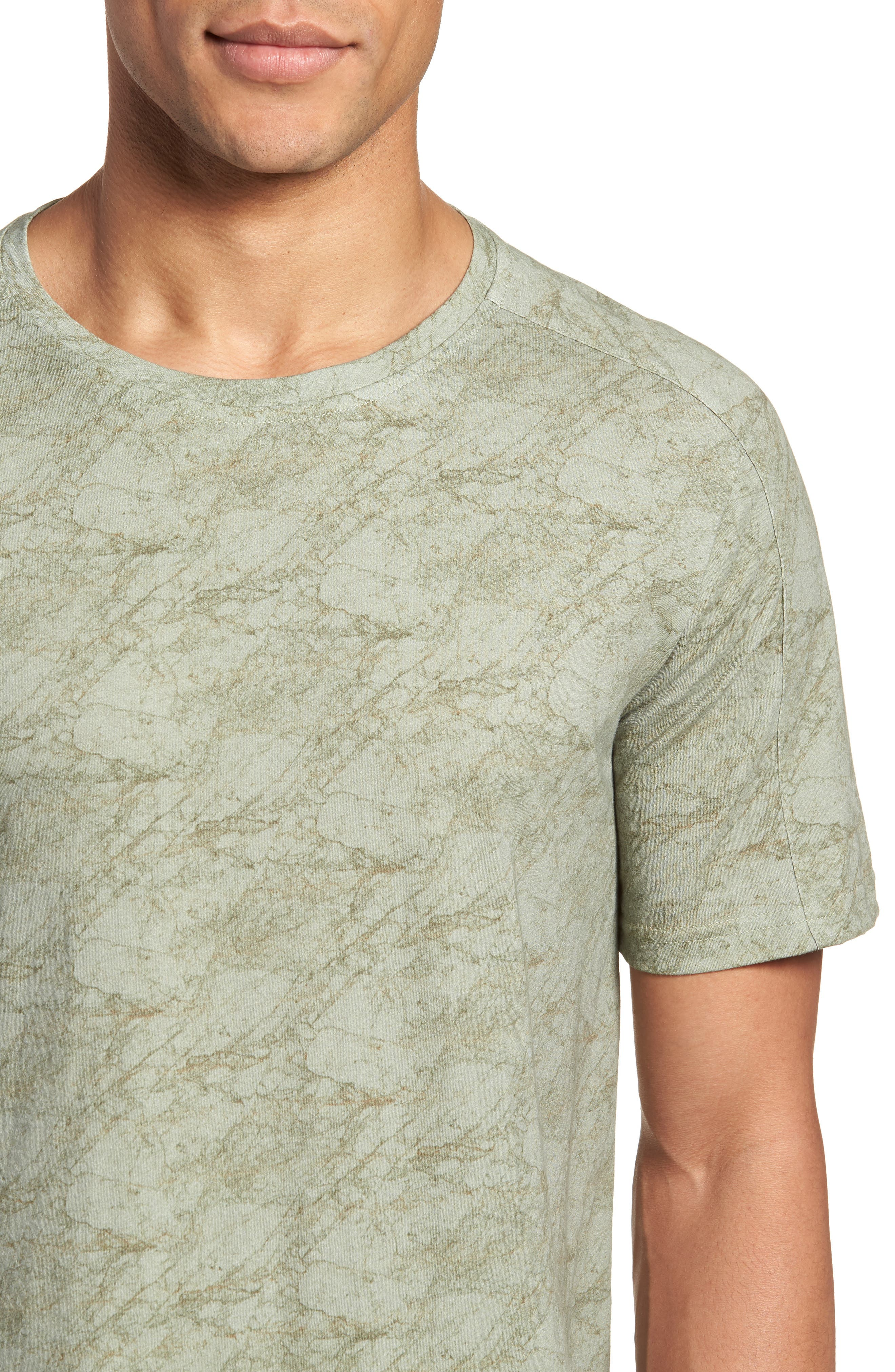 Chelsea Marble Print T-Shirt,                             Alternate thumbnail 4, color,                             Green