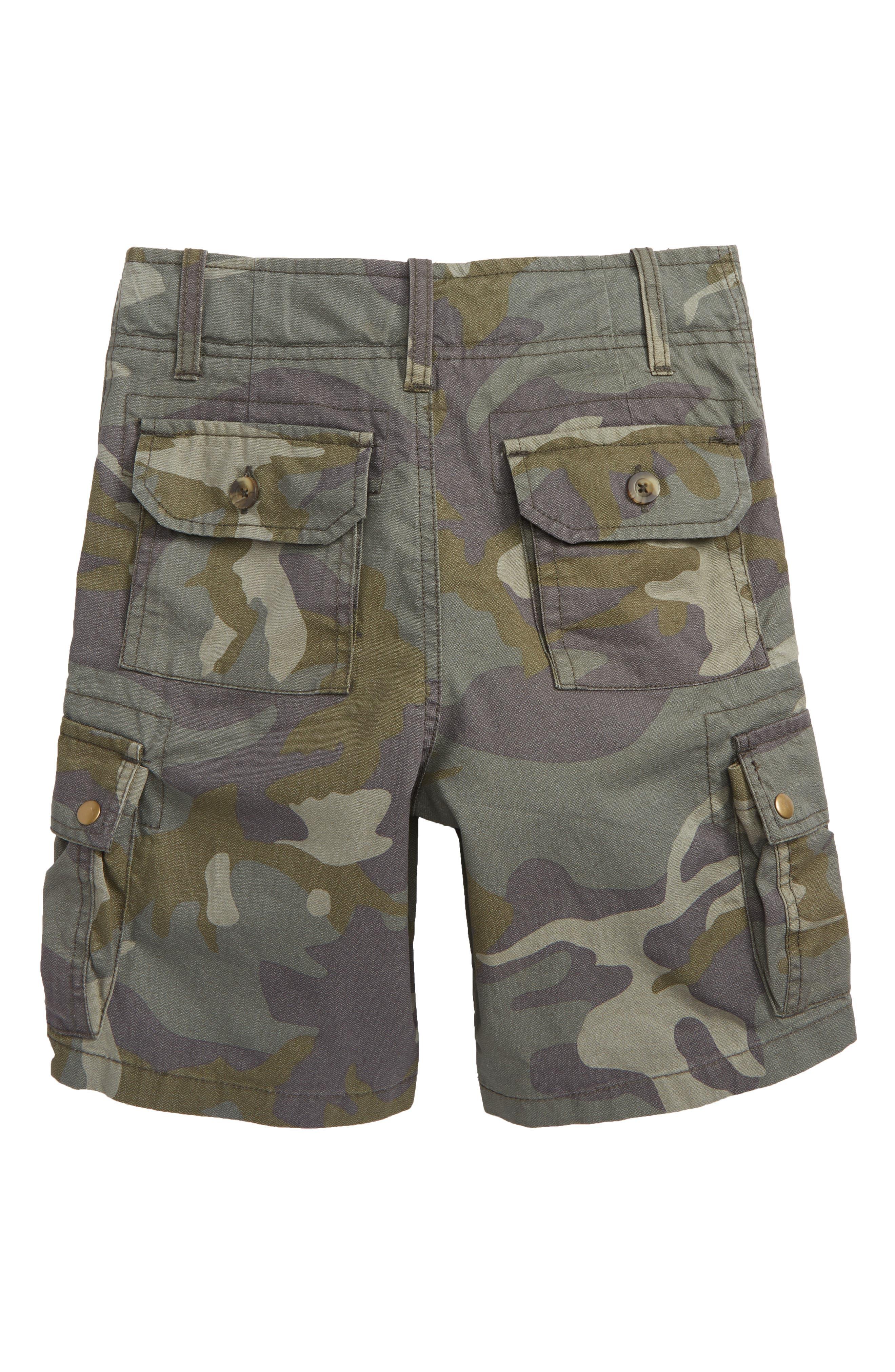 Camo Cargo Shorts,                             Alternate thumbnail 2, color,                             Olive