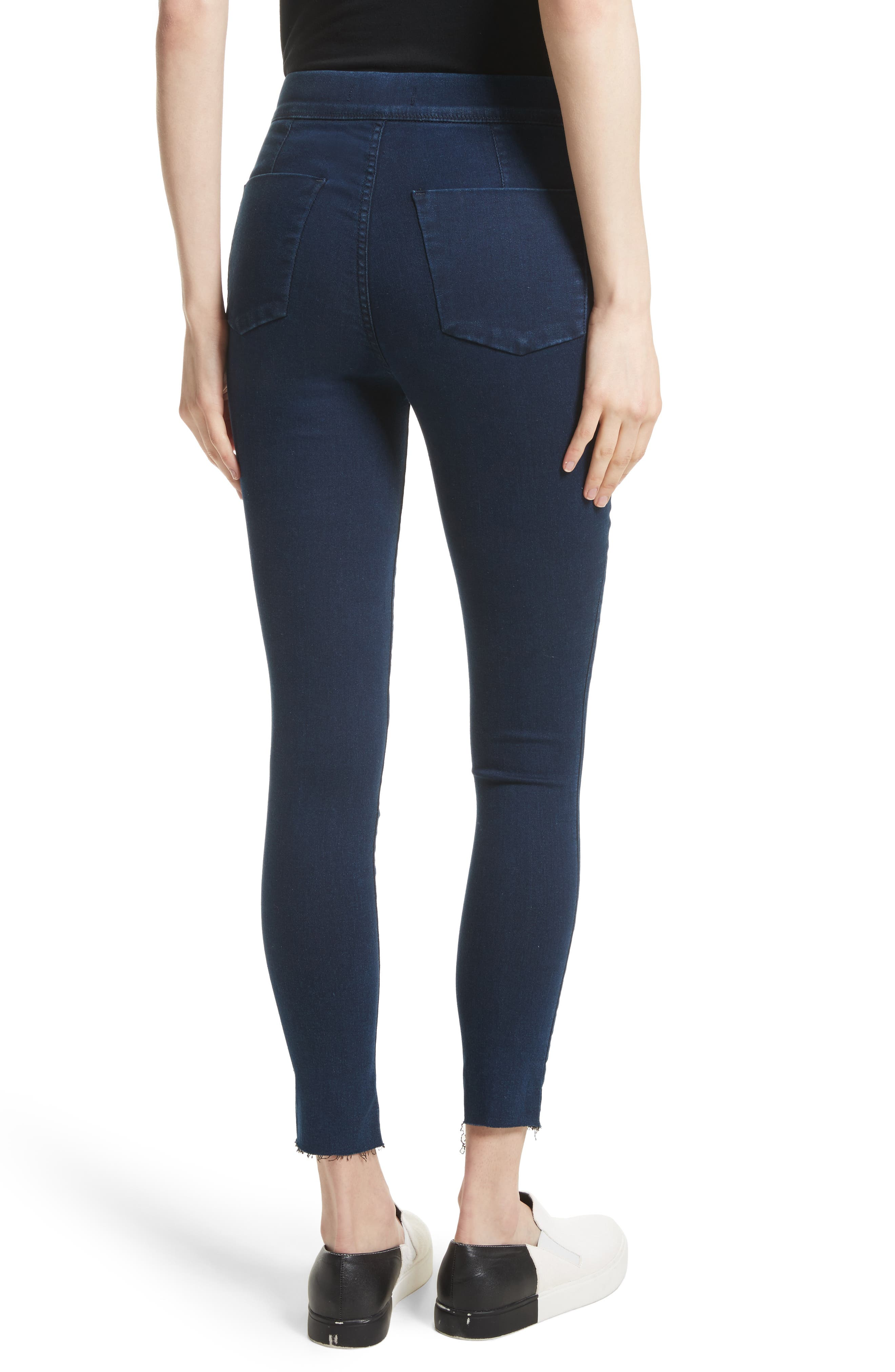 Easy Goes It Leggings,                             Alternate thumbnail 2, color,                             Dark Denim