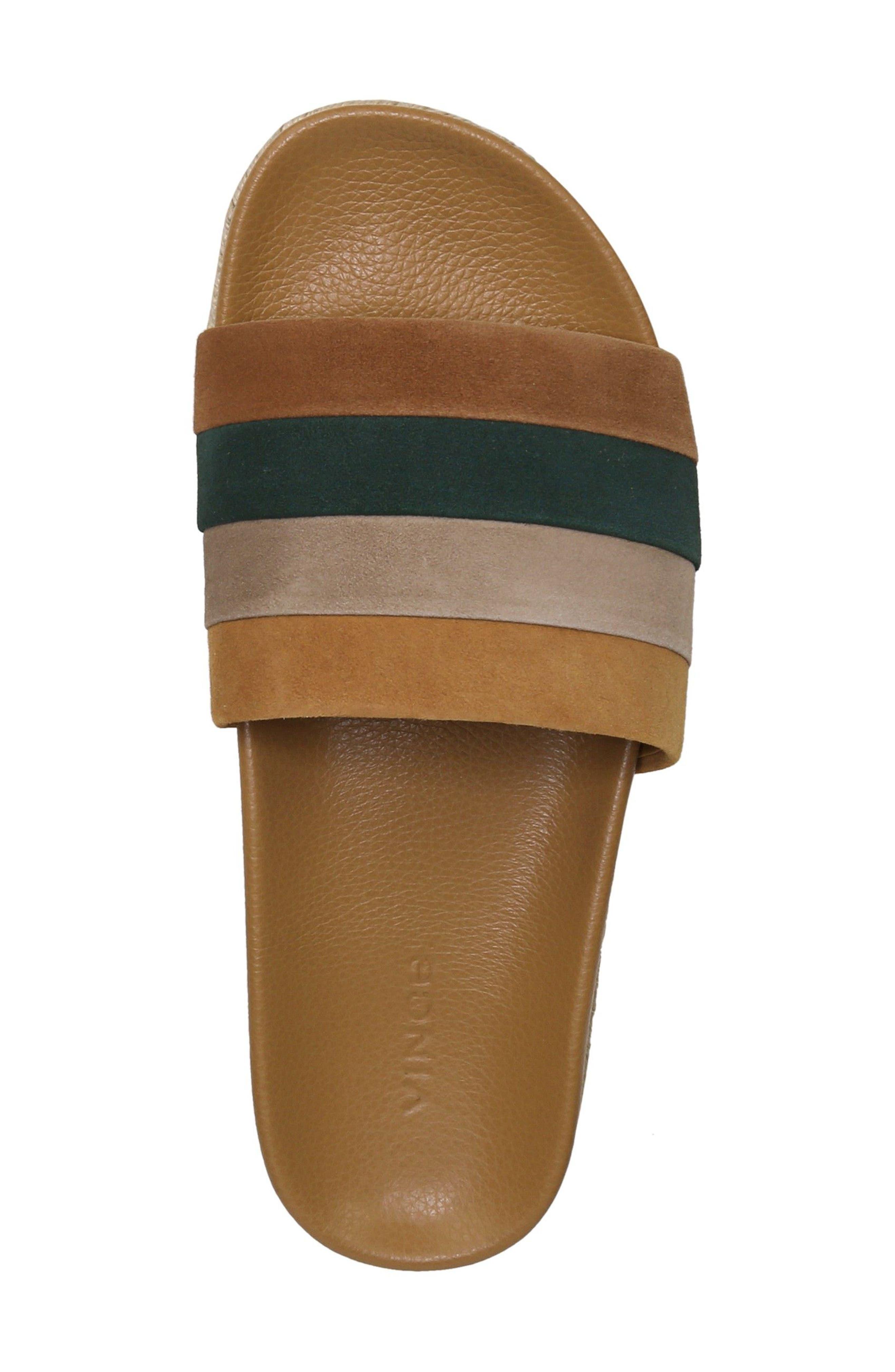 Alisa Striped Slide Sandal,                             Alternate thumbnail 5, color,                             Cedar Multi