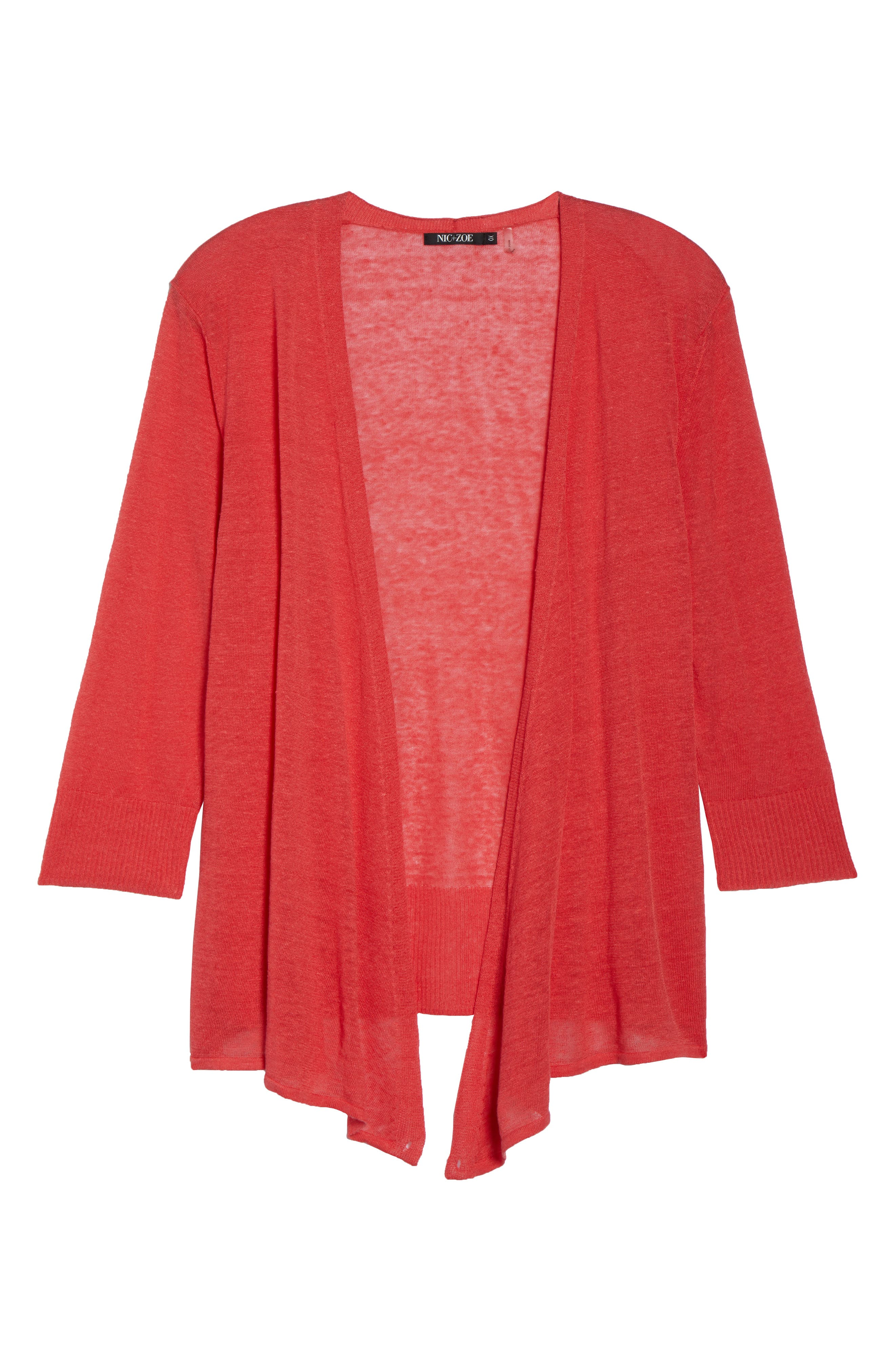 4-Way Convertible Three Quarter Sleeve Cardigan,                             Alternate thumbnail 8, color,                             Spiced Rose