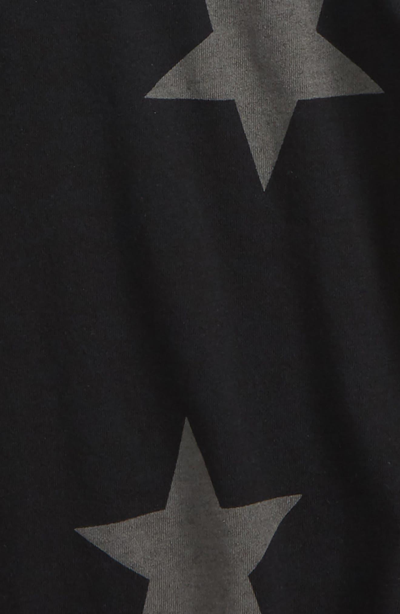 Star Bodysuit Bodysuit,                             Alternate thumbnail 2, color,                             Black
