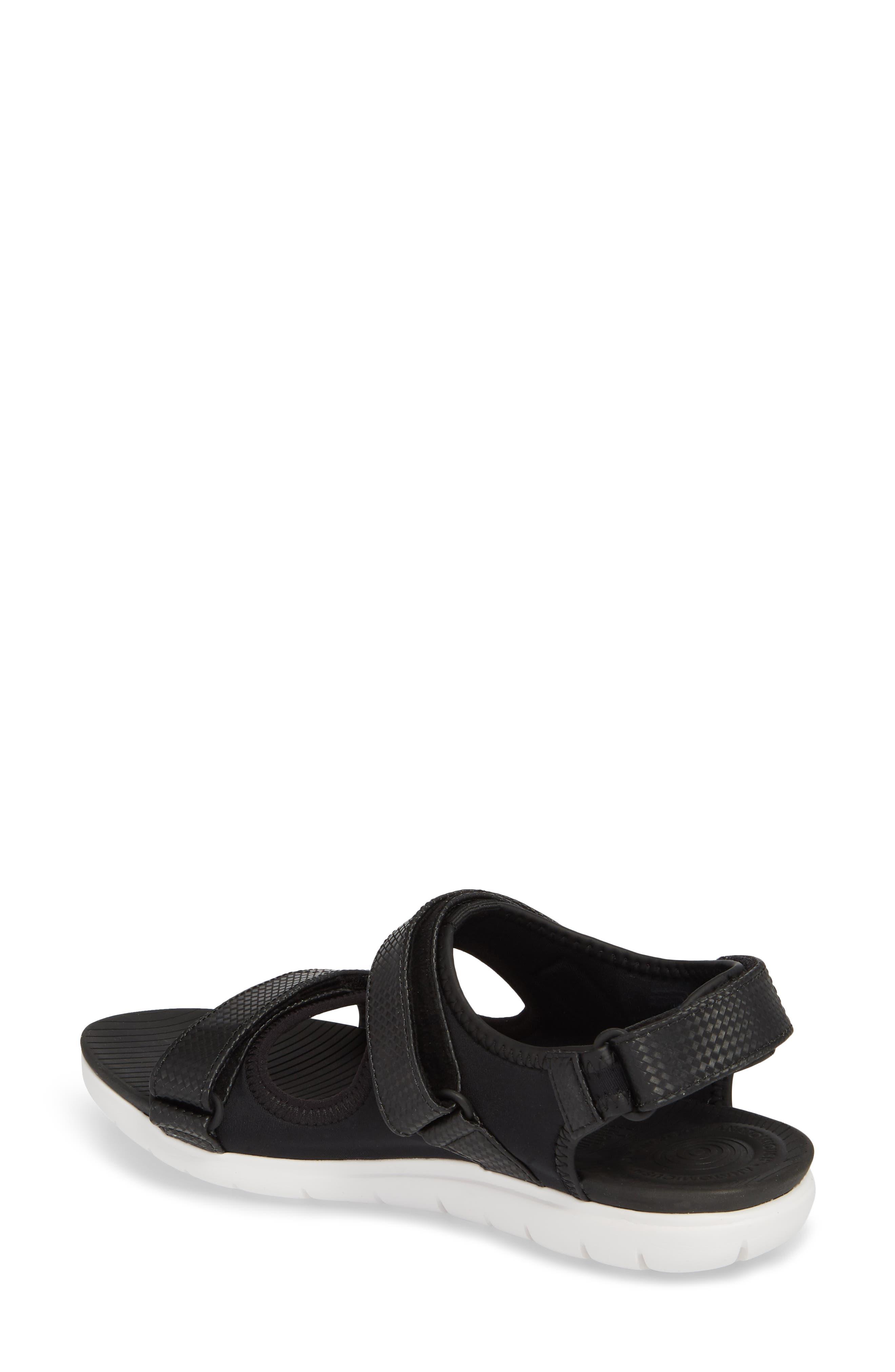 FitfFlop Neoflex<sup>™</sup> Back Strap Sandal,                             Alternate thumbnail 2, color,                             Black Leather