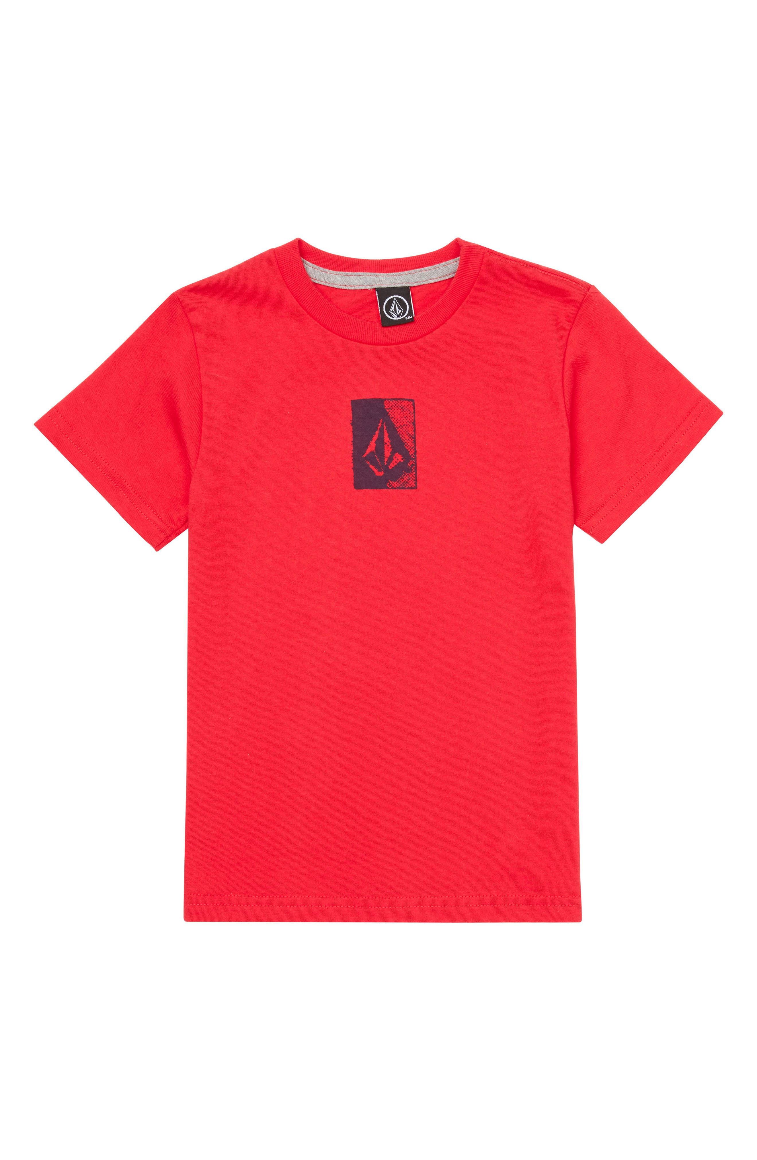 Half Tone Graphic T-Shirt,                             Main thumbnail 1, color,                             True Red