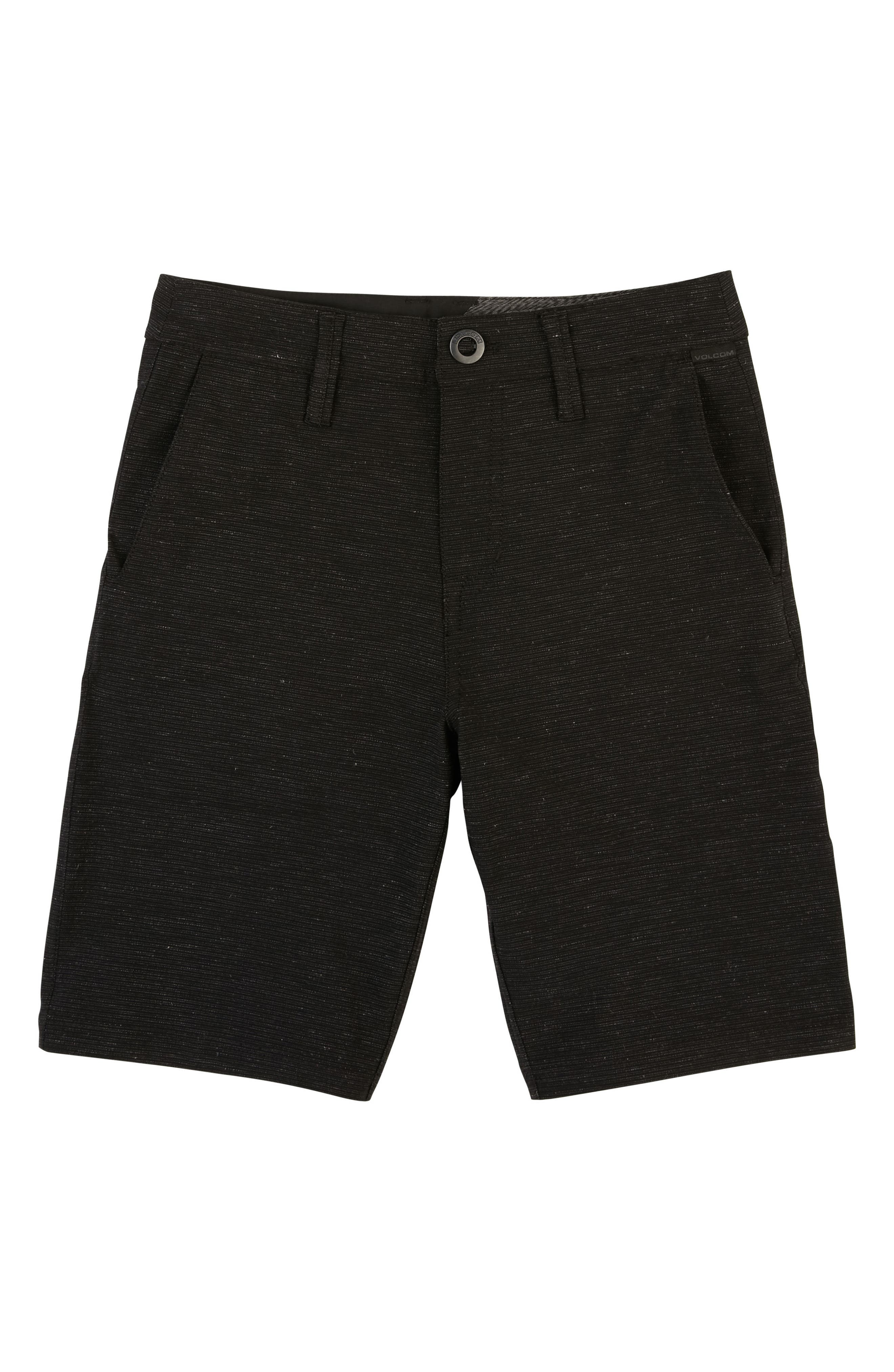 Surf N' Turf Slub Hybrid Shorts,                             Main thumbnail 1, color,                             Black