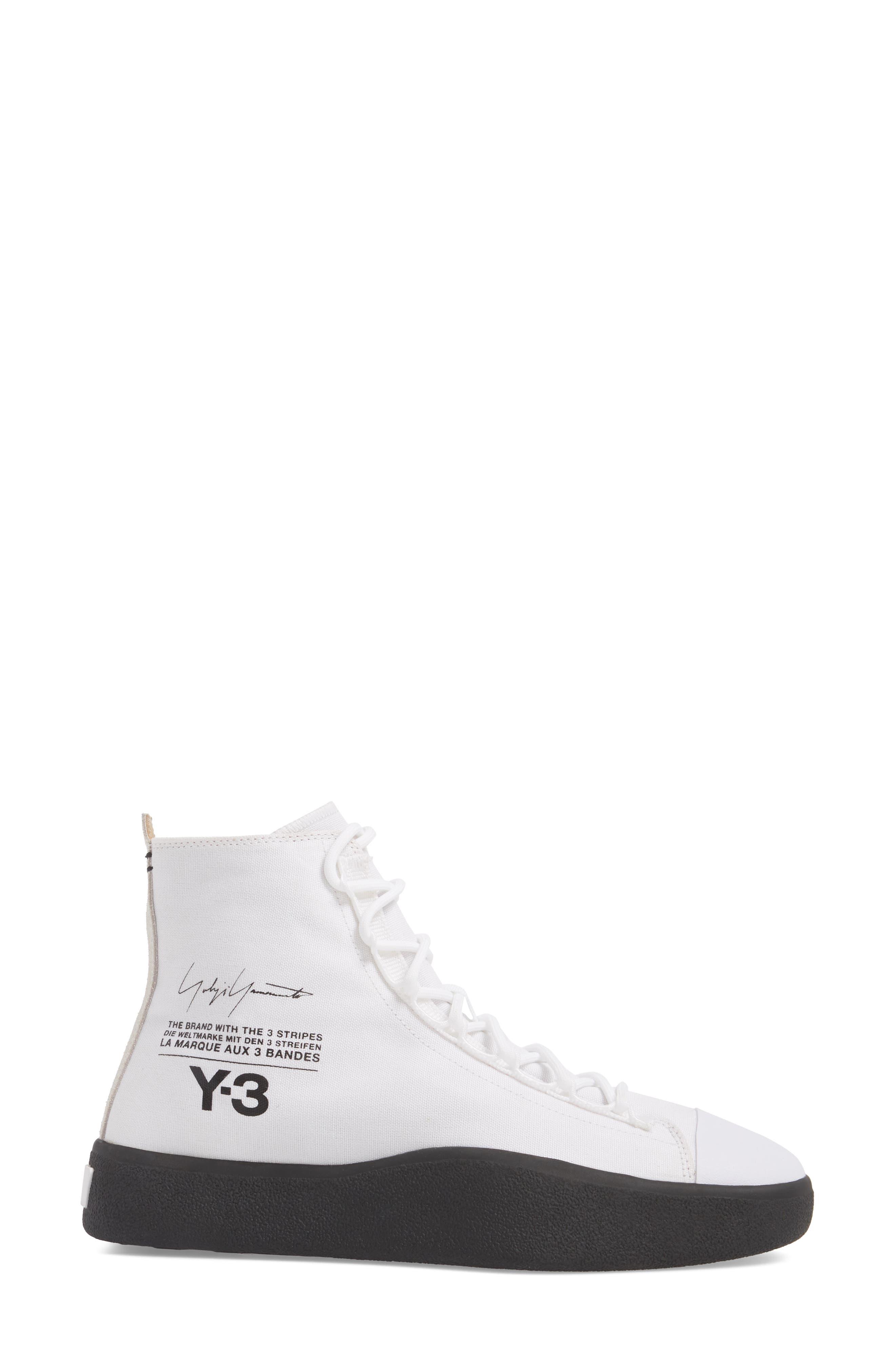 Bashyo High Top Sneaker,                             Alternate thumbnail 3, color,                             White/ Black