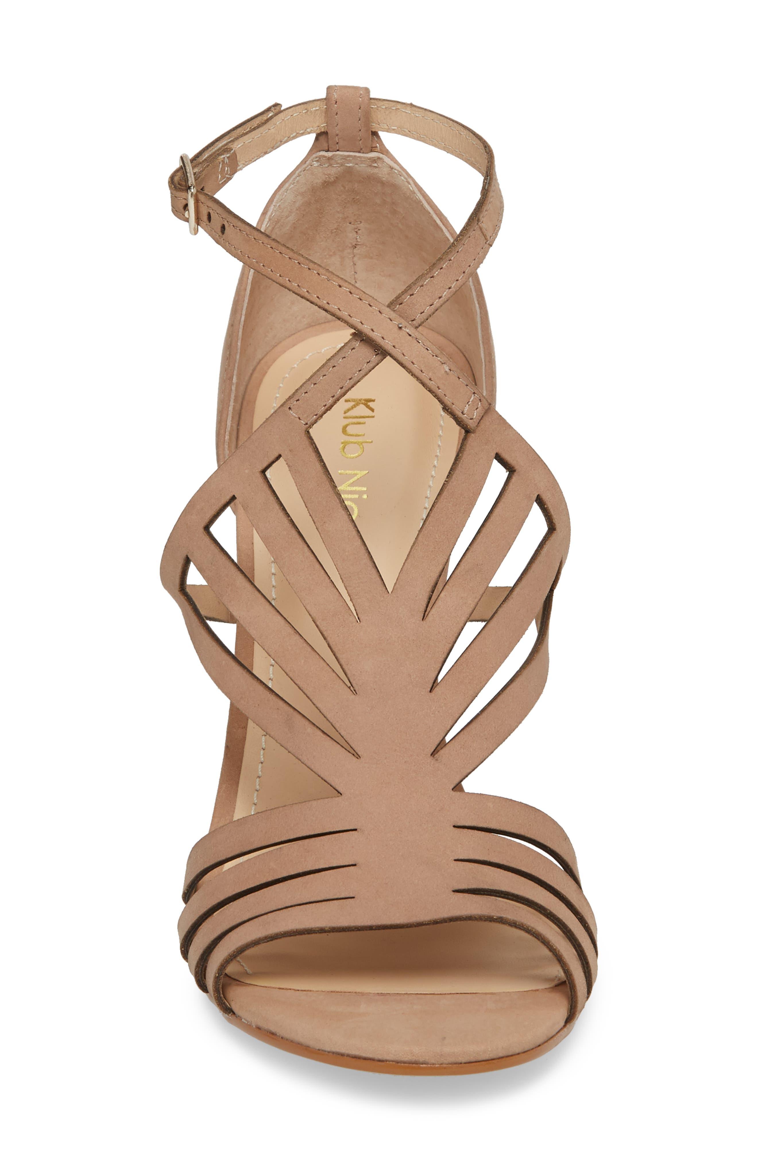 Mikki Sandal,                             Alternate thumbnail 4, color,                             Blush Leather