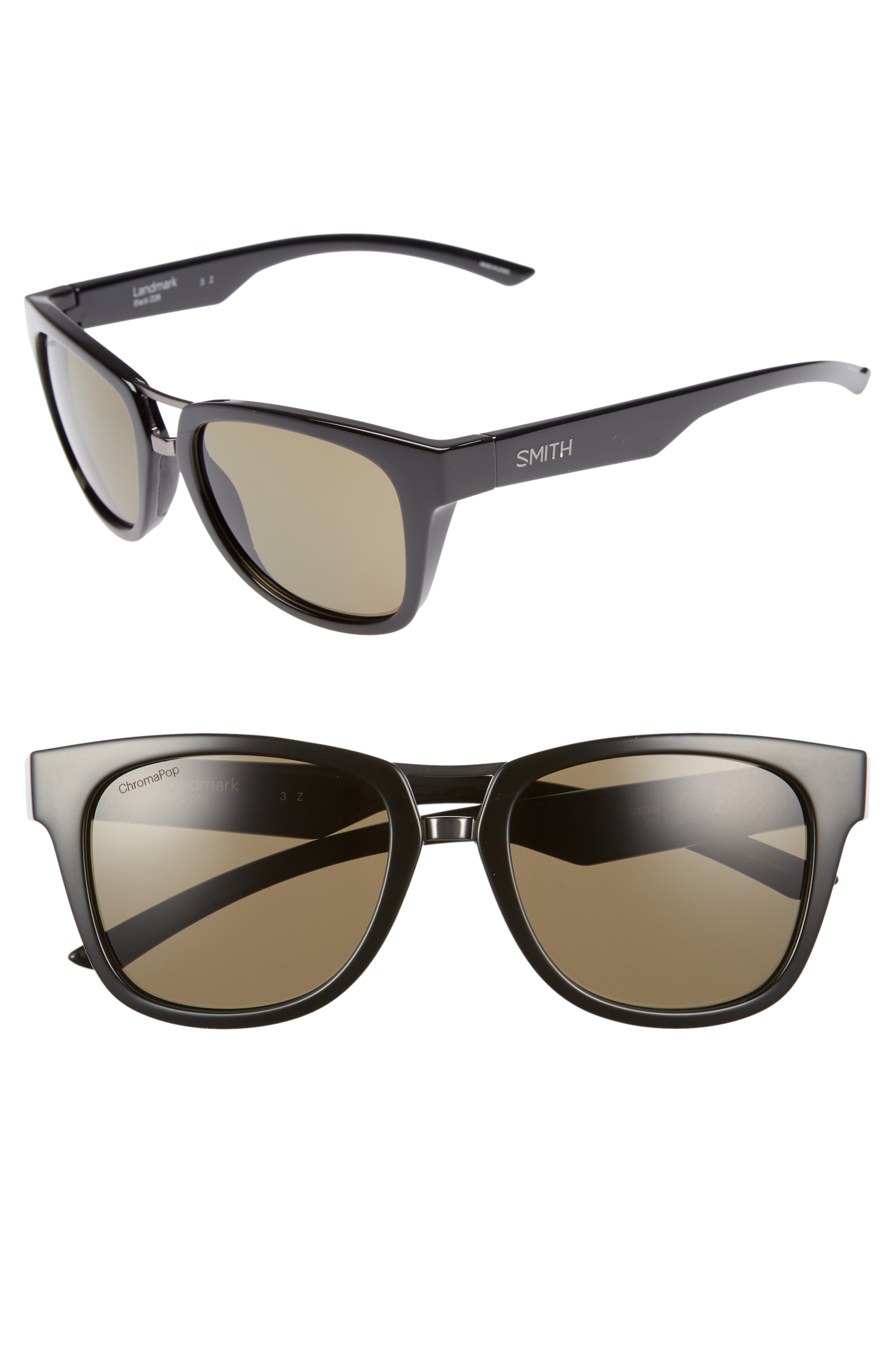 SMITH LANDMARK 53MM CHROMAPOP(TM) POLARIZED SUNGLASSES - BLACK