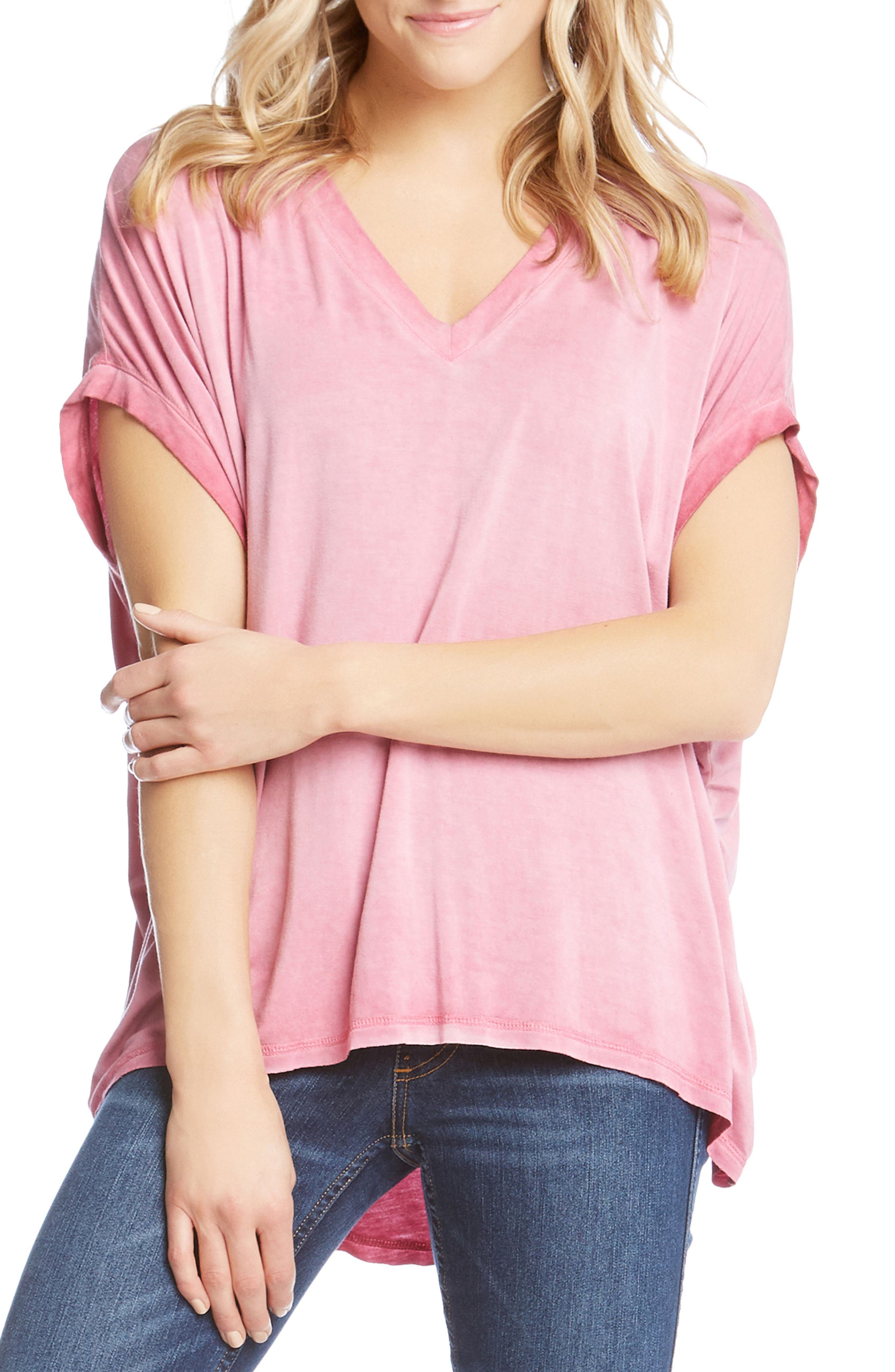 Flowy Tee,                         Main,                         color, Check