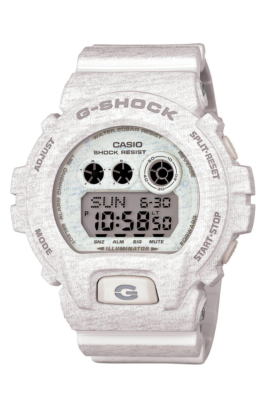 Main Image - G-Shock XL Print Resin Digital Watch, 58mm x 54mm