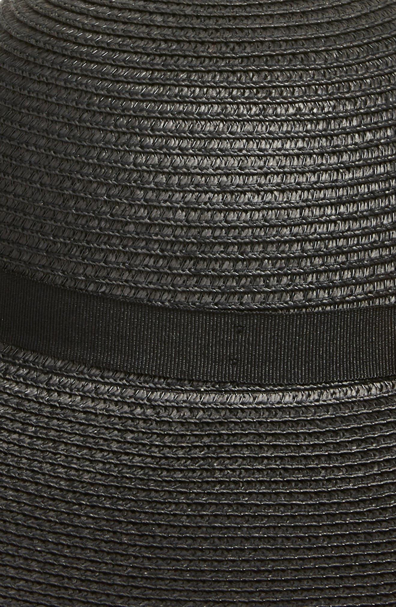 Theasa Straw Hat,                             Alternate thumbnail 2, color,                             Black