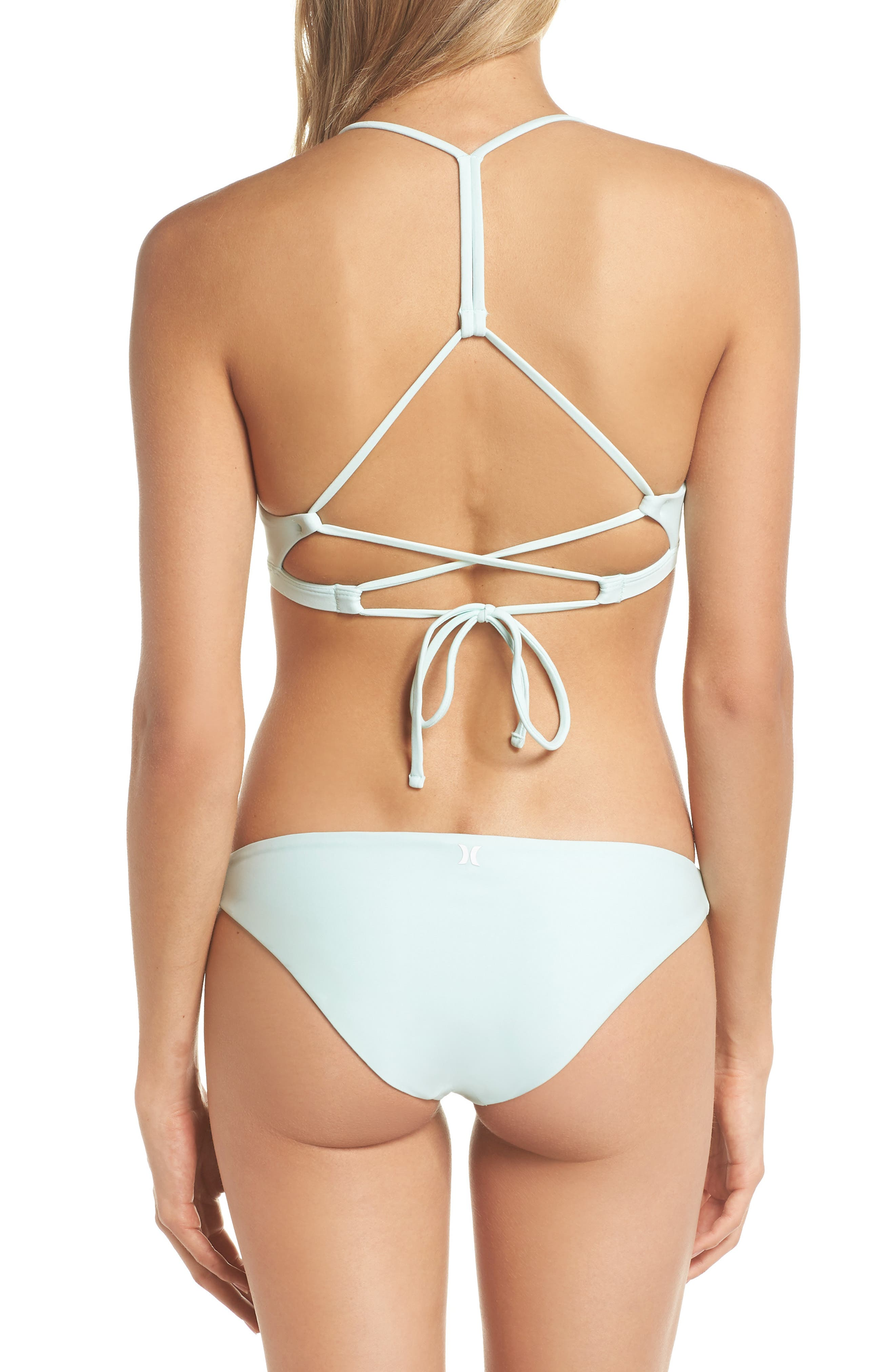 Quick Dry Surf Bikini Top,                             Alternate thumbnail 5, color,                             Igloo