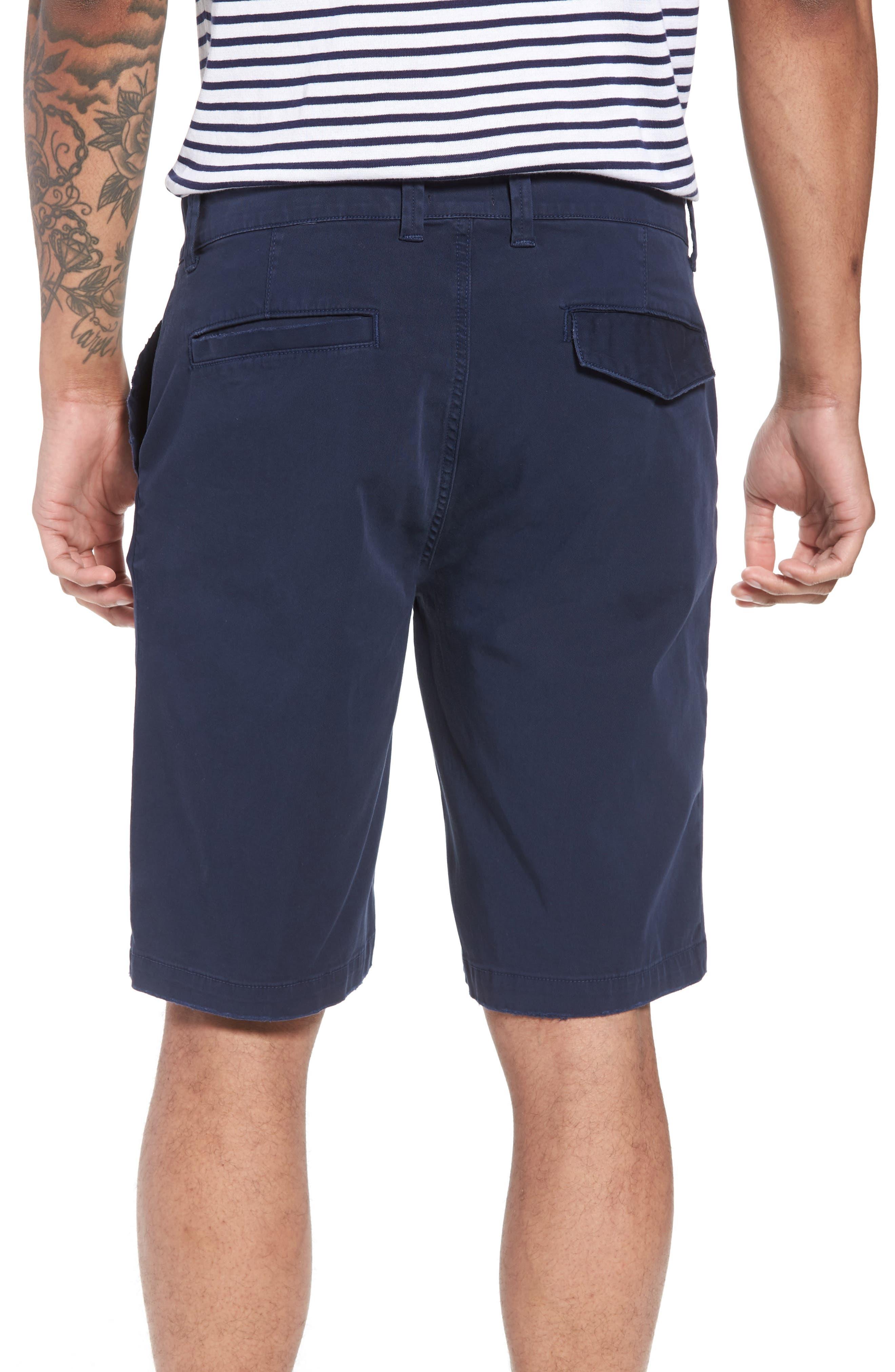 Hudson Clint Chino Shorts,                             Alternate thumbnail 2, color,                             Navy