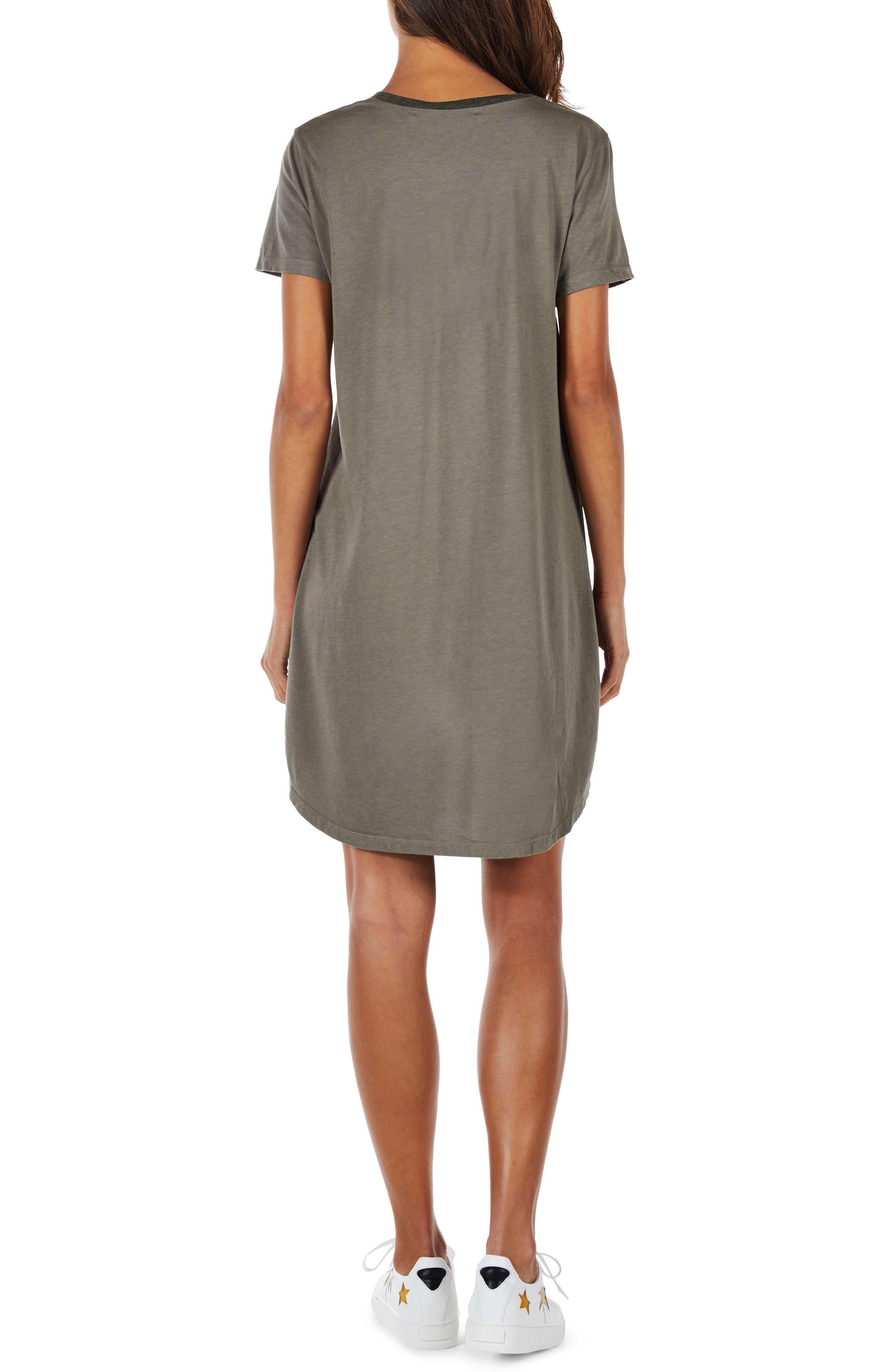 Ringer T-Shirt Dress,                             Alternate thumbnail 2, color,                             Camo