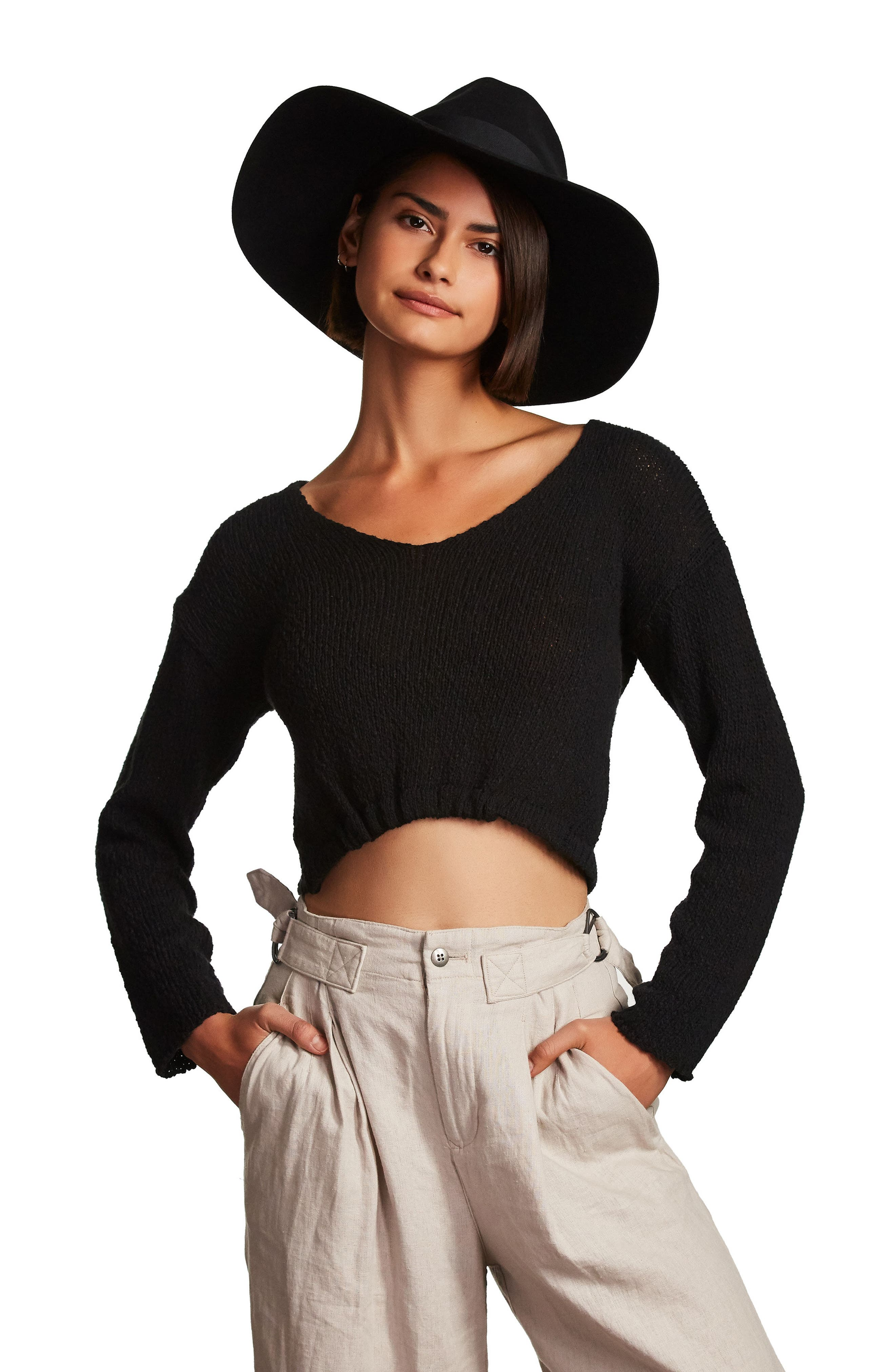 'Piper' Floppy Wool Hat,                             Alternate thumbnail 3, color,