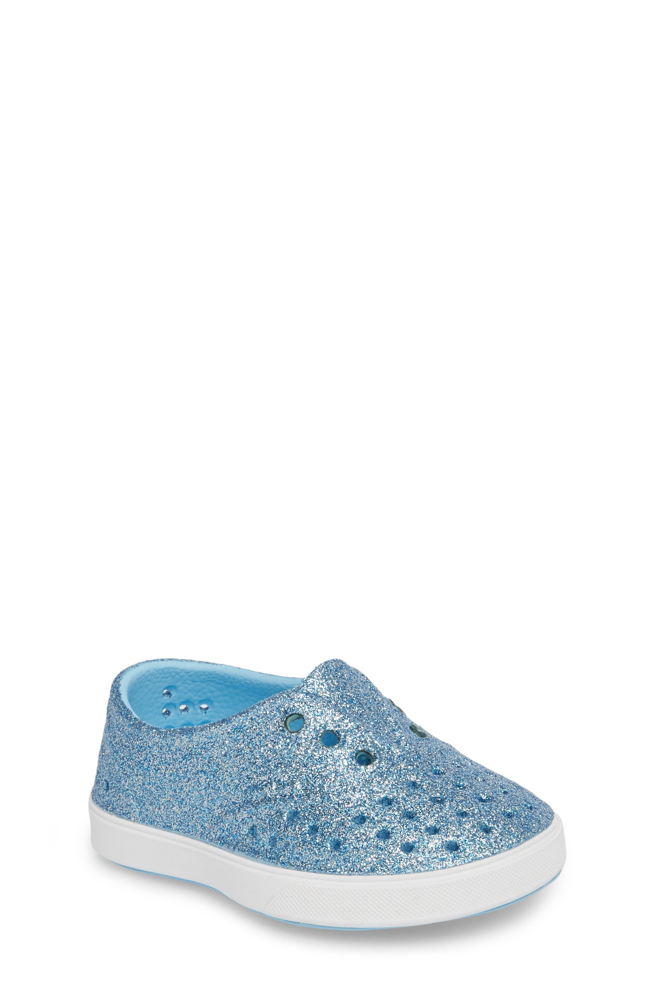 Native Shoes Miller Sparkly Perforated Slip-On (Walker, Toddler & Little Kid)