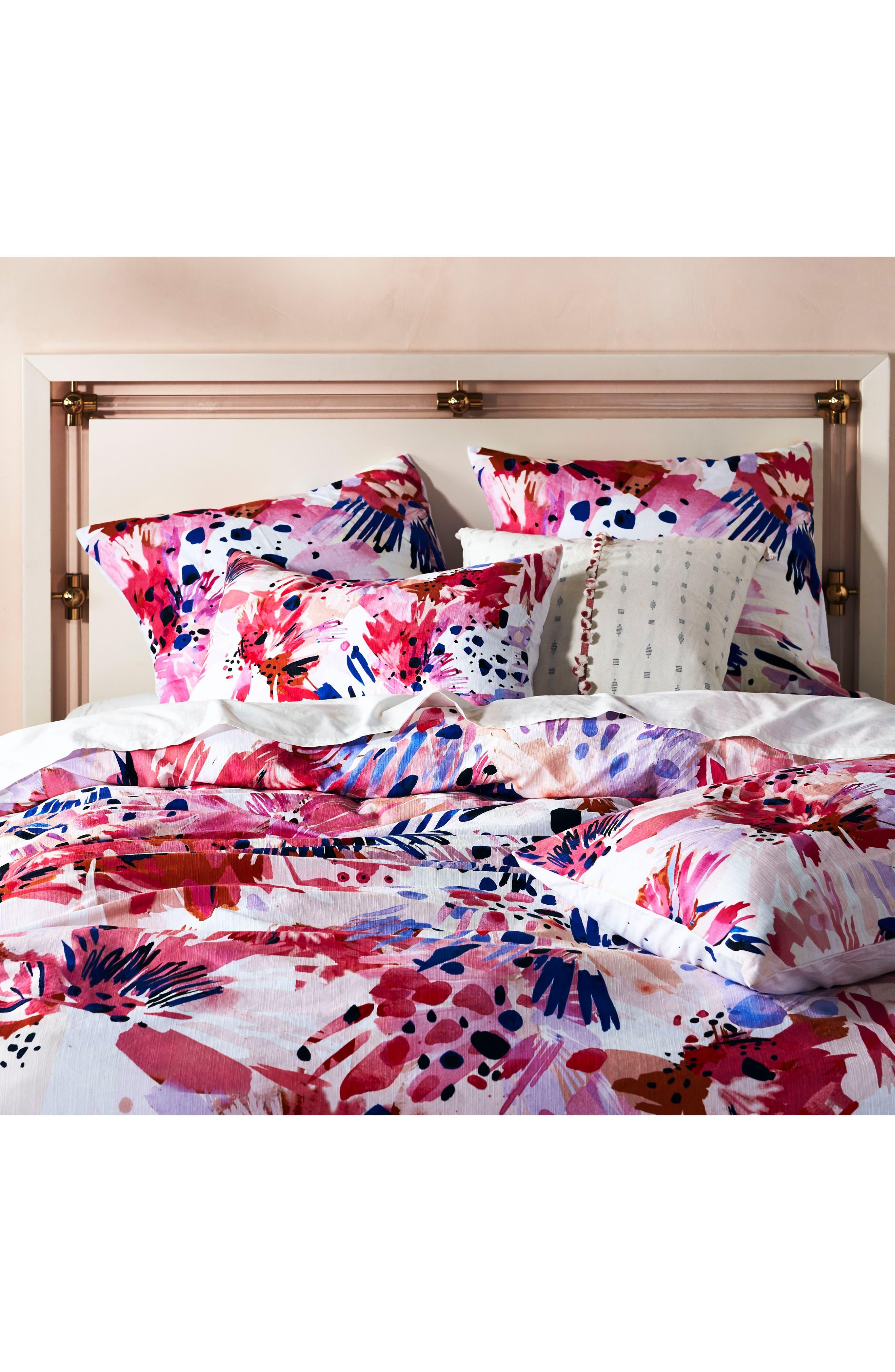 x Lillian Farag Floral Set of Shams,                             Alternate thumbnail 2, color,                             Pink Multi