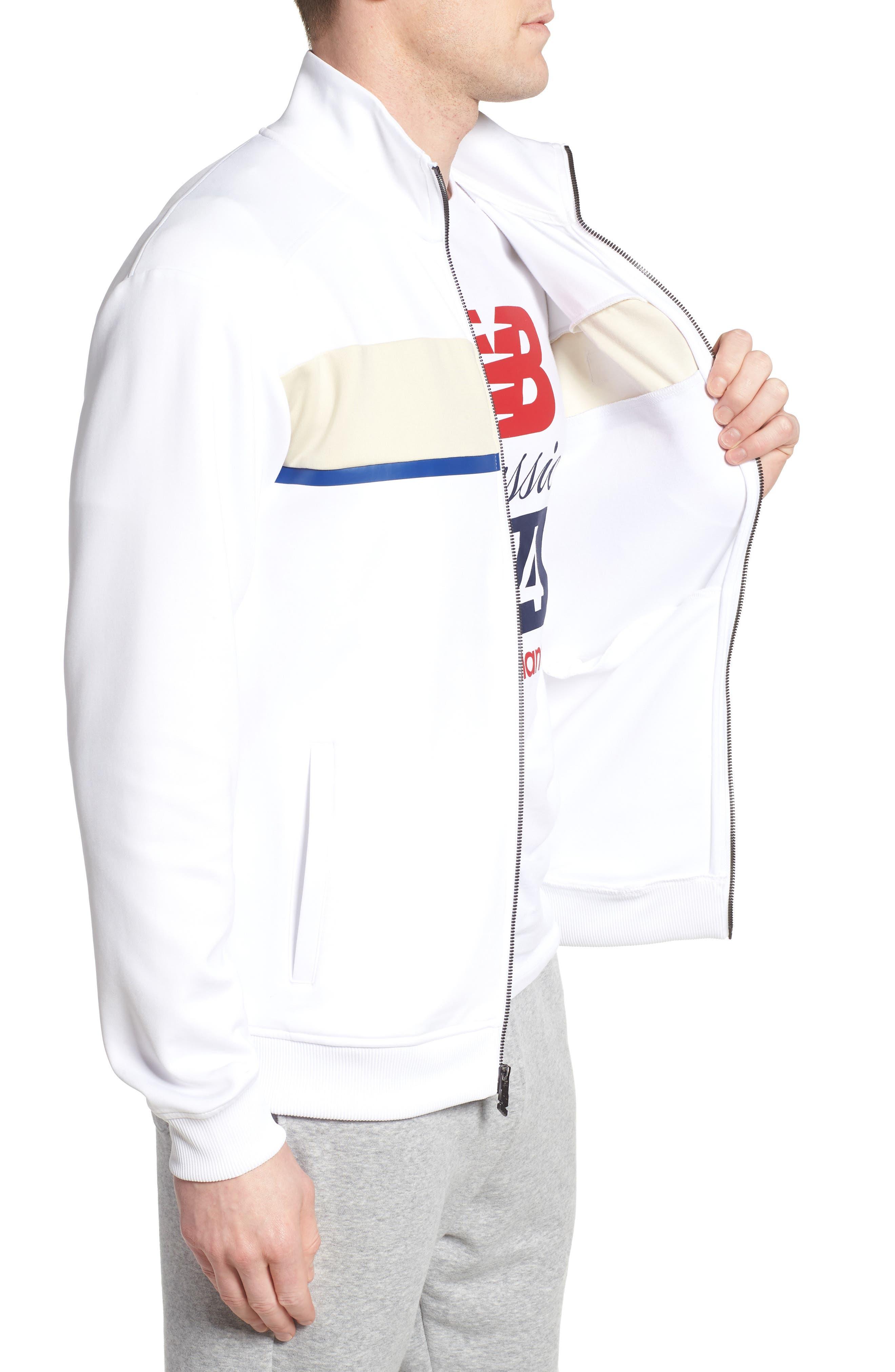 Athletics Track Jacket,                             Alternate thumbnail 3, color,                             White
