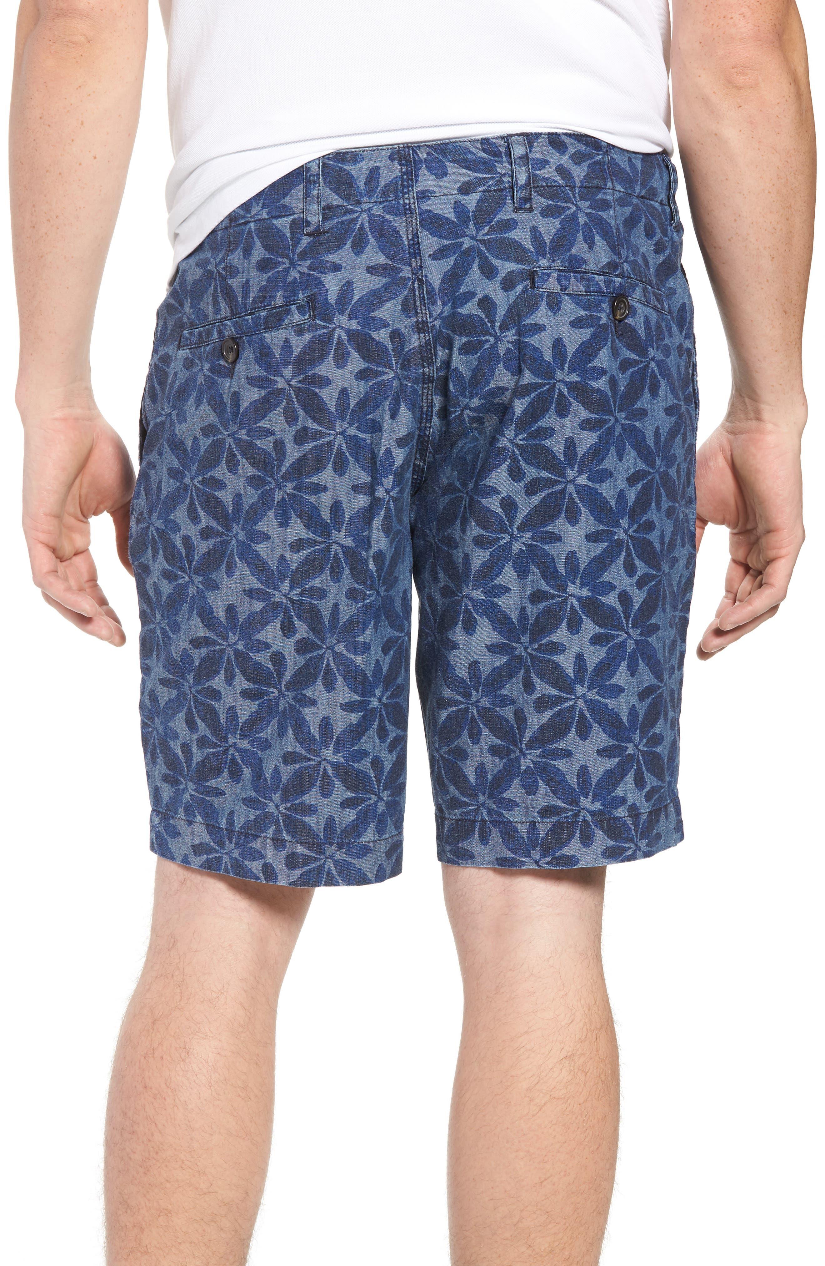 Franju Floral Cotton Shorts,                             Alternate thumbnail 2, color,                             Rinse And Softener