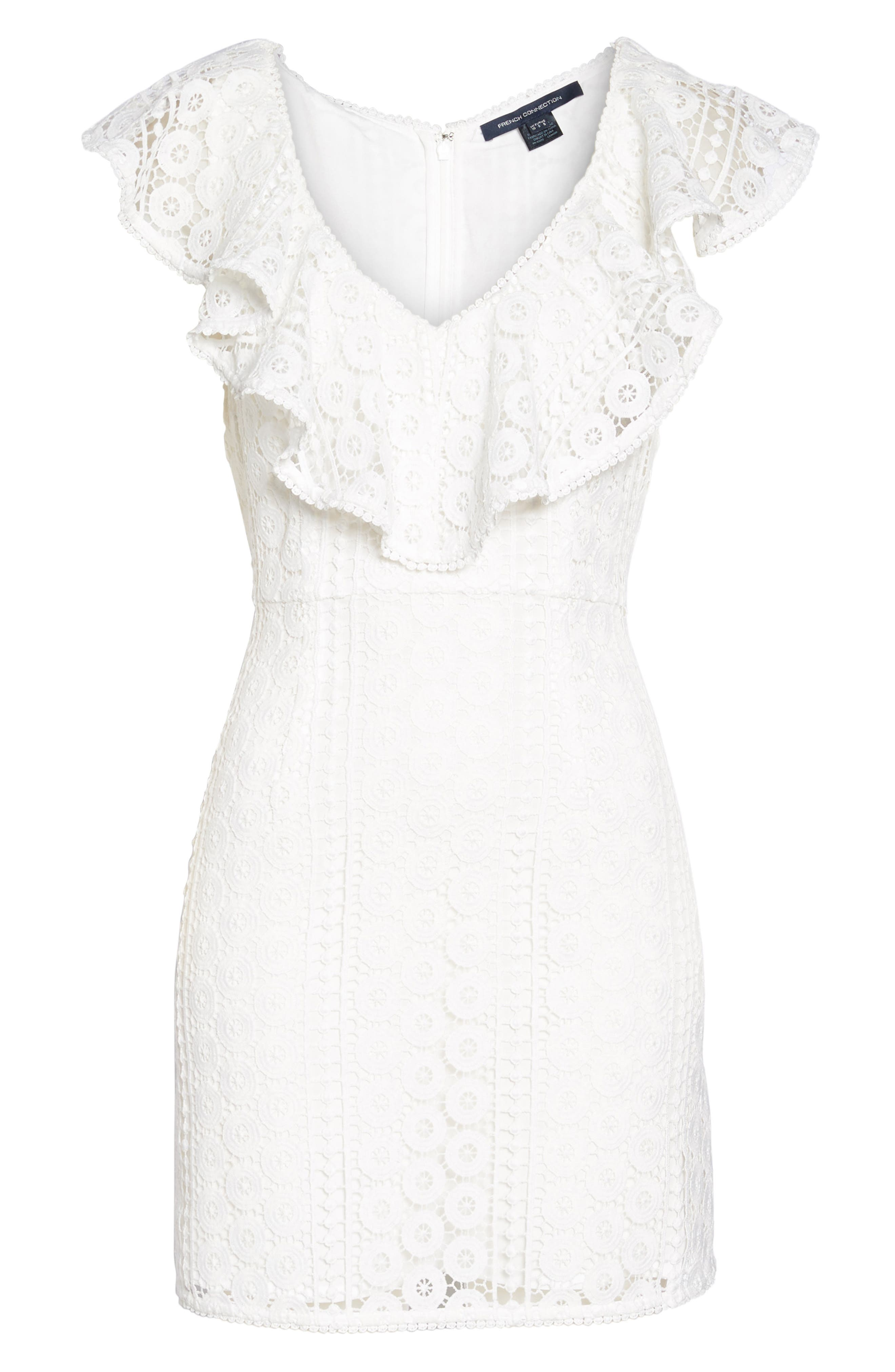 Massey Lace Dress,                             Alternate thumbnail 7, color,                             Summer White