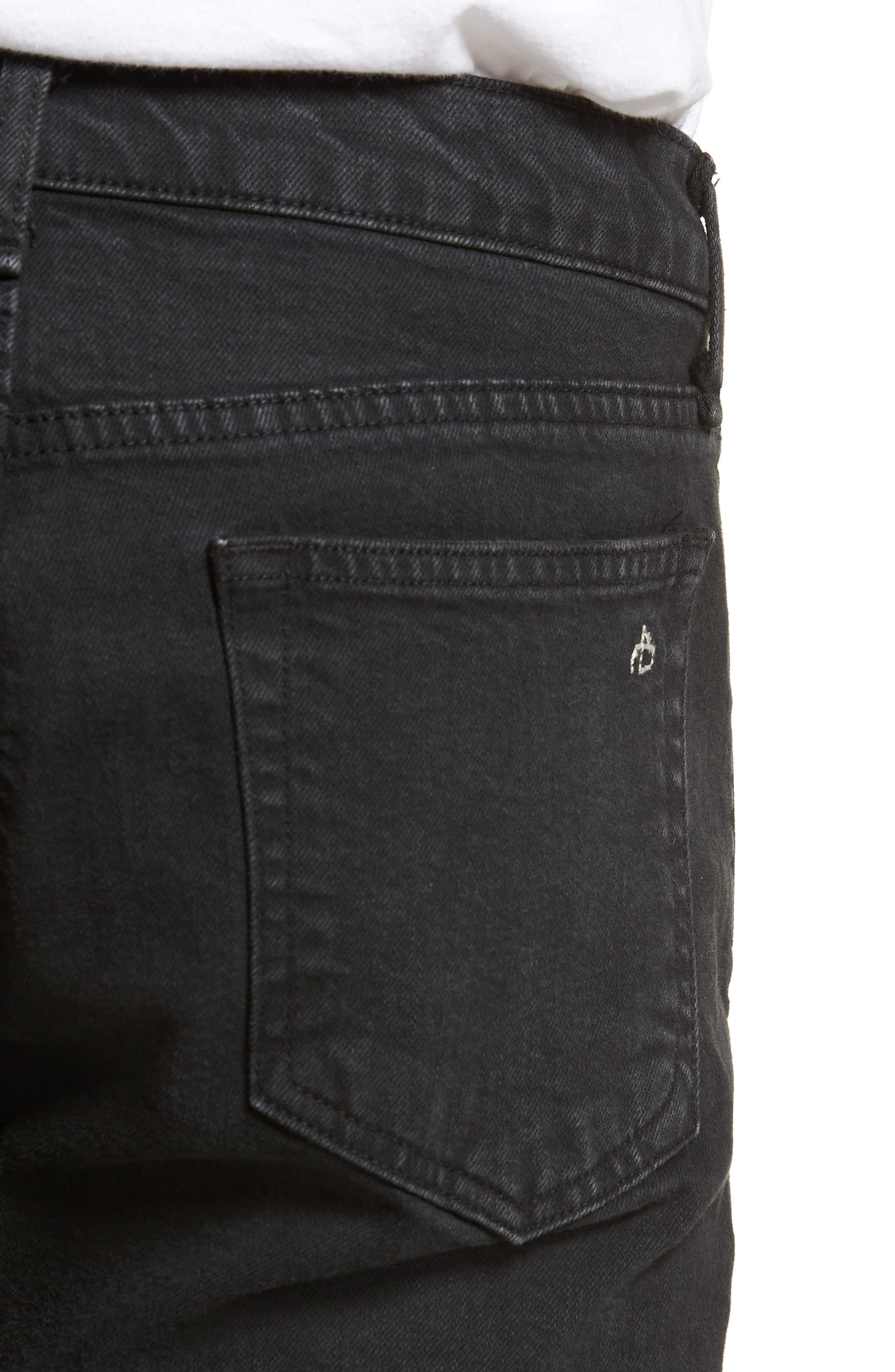 Fit 1 Skinny Fit Jeans,                             Alternate thumbnail 4, color,                             Shelter W/ Holes