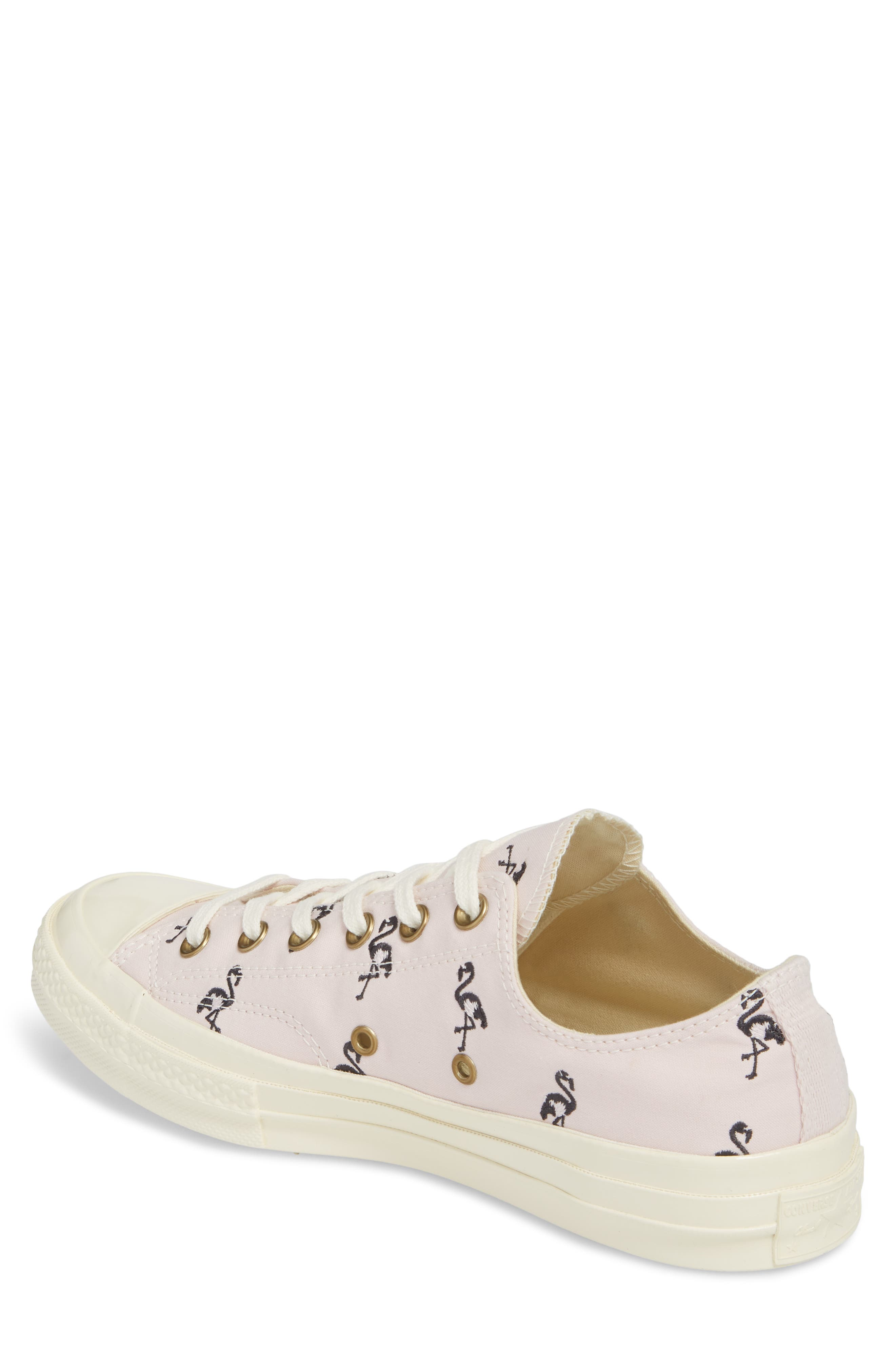 Chuck Taylor<sup>®</sup> All Star<sup>®</sup> 70 Flamingos Low Top Sneaker,                             Alternate thumbnail 2, color,                             Barely Rose