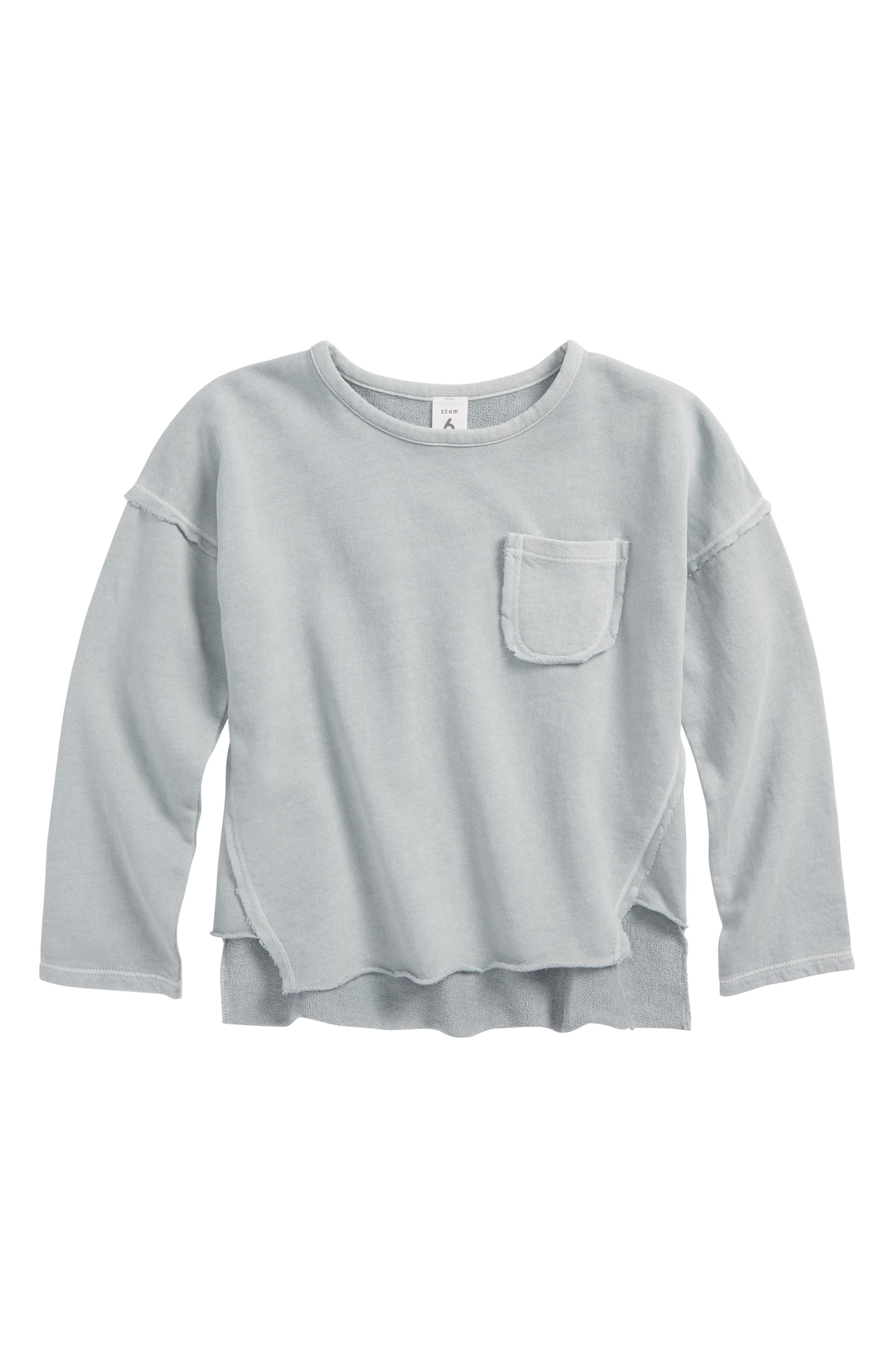 Pocket Sweatshirt,                         Main,                         color, Blue Fog Wash