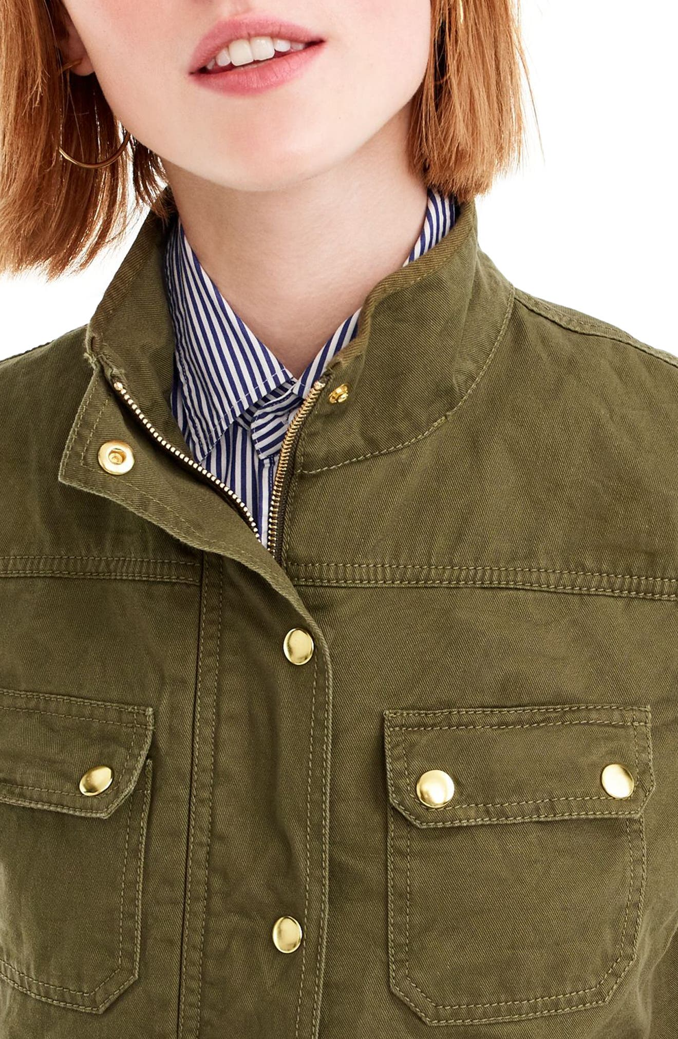 Uncoated Downtown Field Jacket,                             Alternate thumbnail 3, color,                             Tuscan Olive