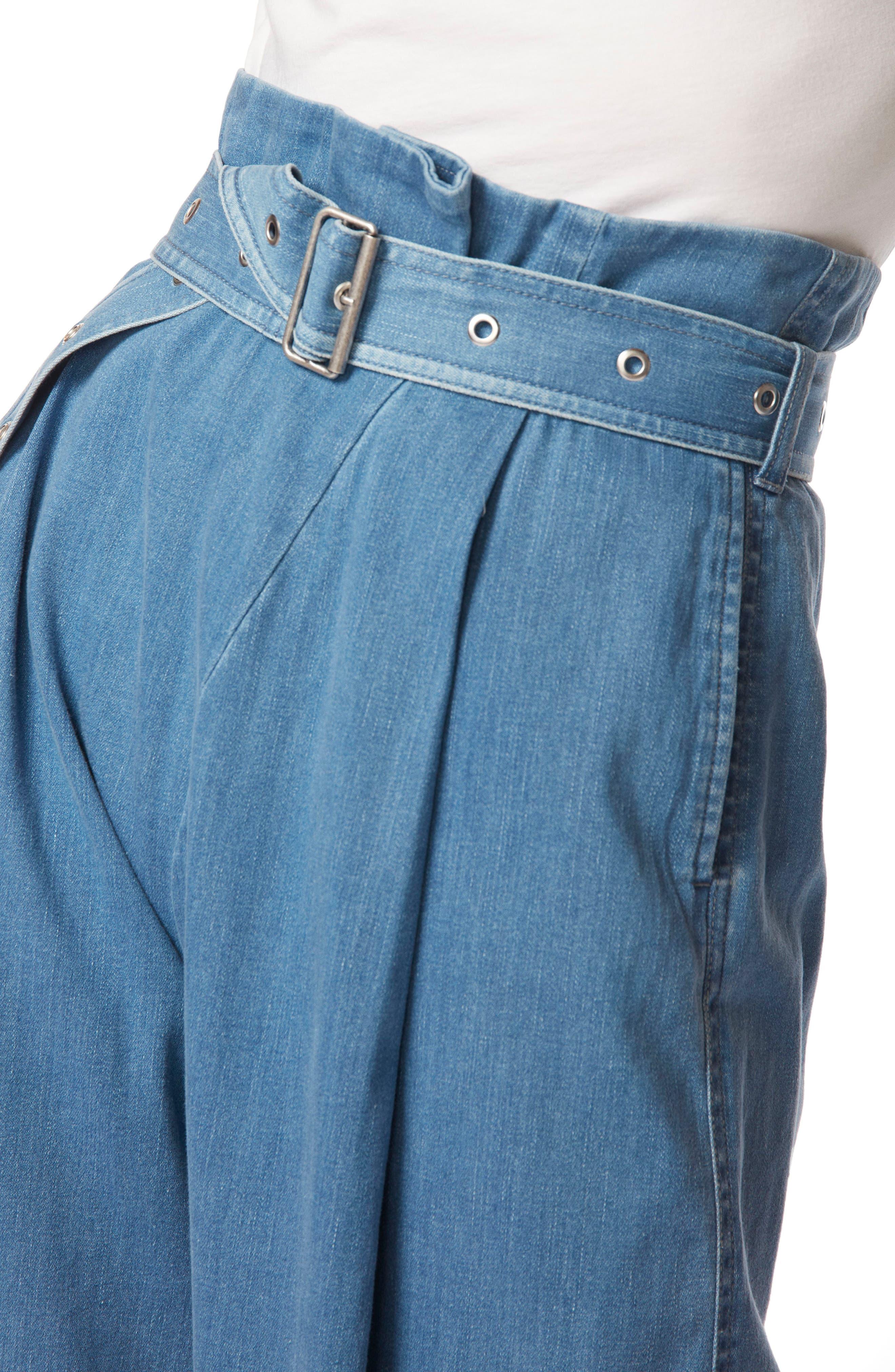 Via Pleat Front Wide Leg Pants,                             Alternate thumbnail 4, color,                             Heavenly