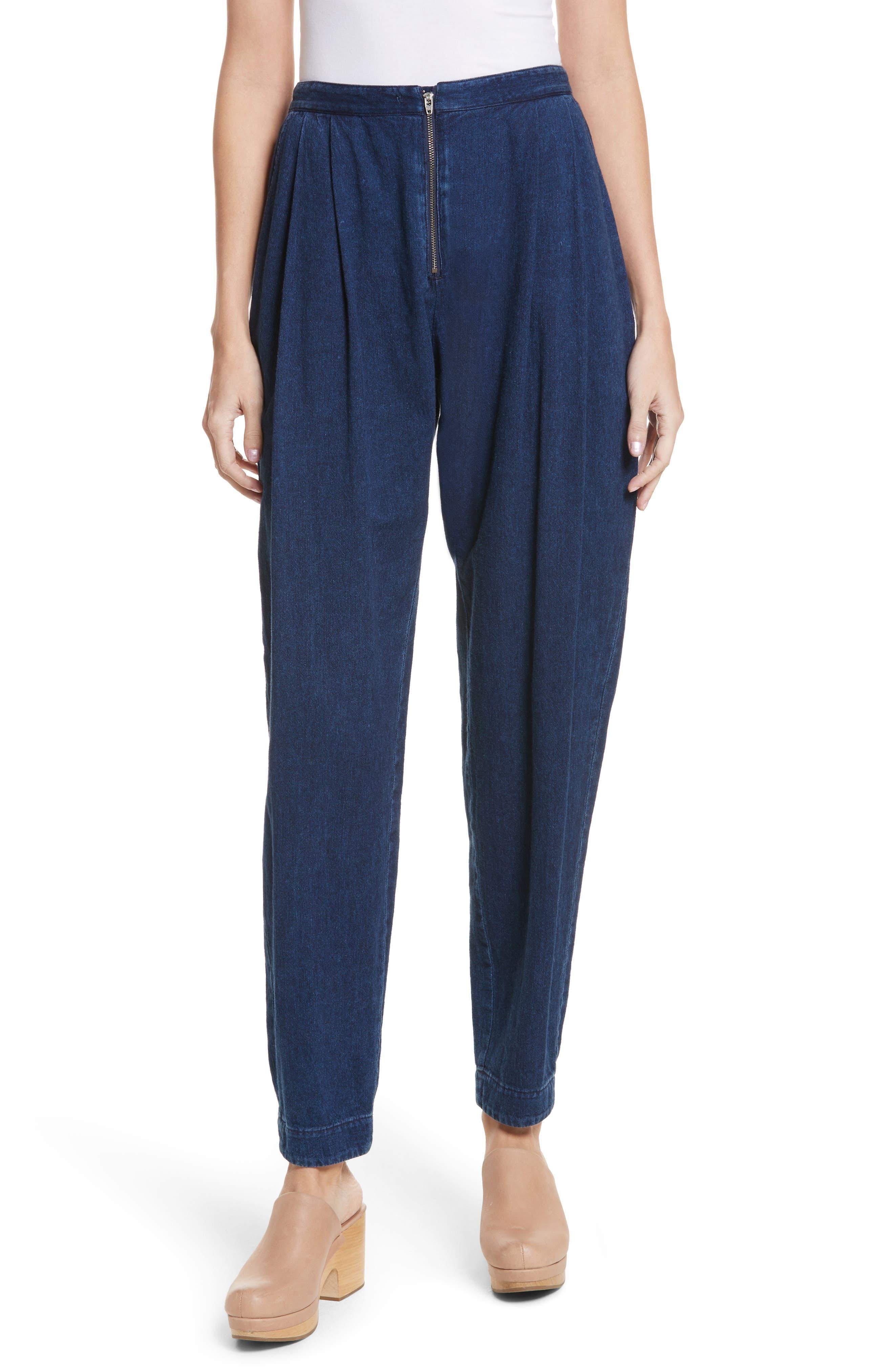 Wily Peg Denim Pants,                         Main,                         color, Dark Indigo