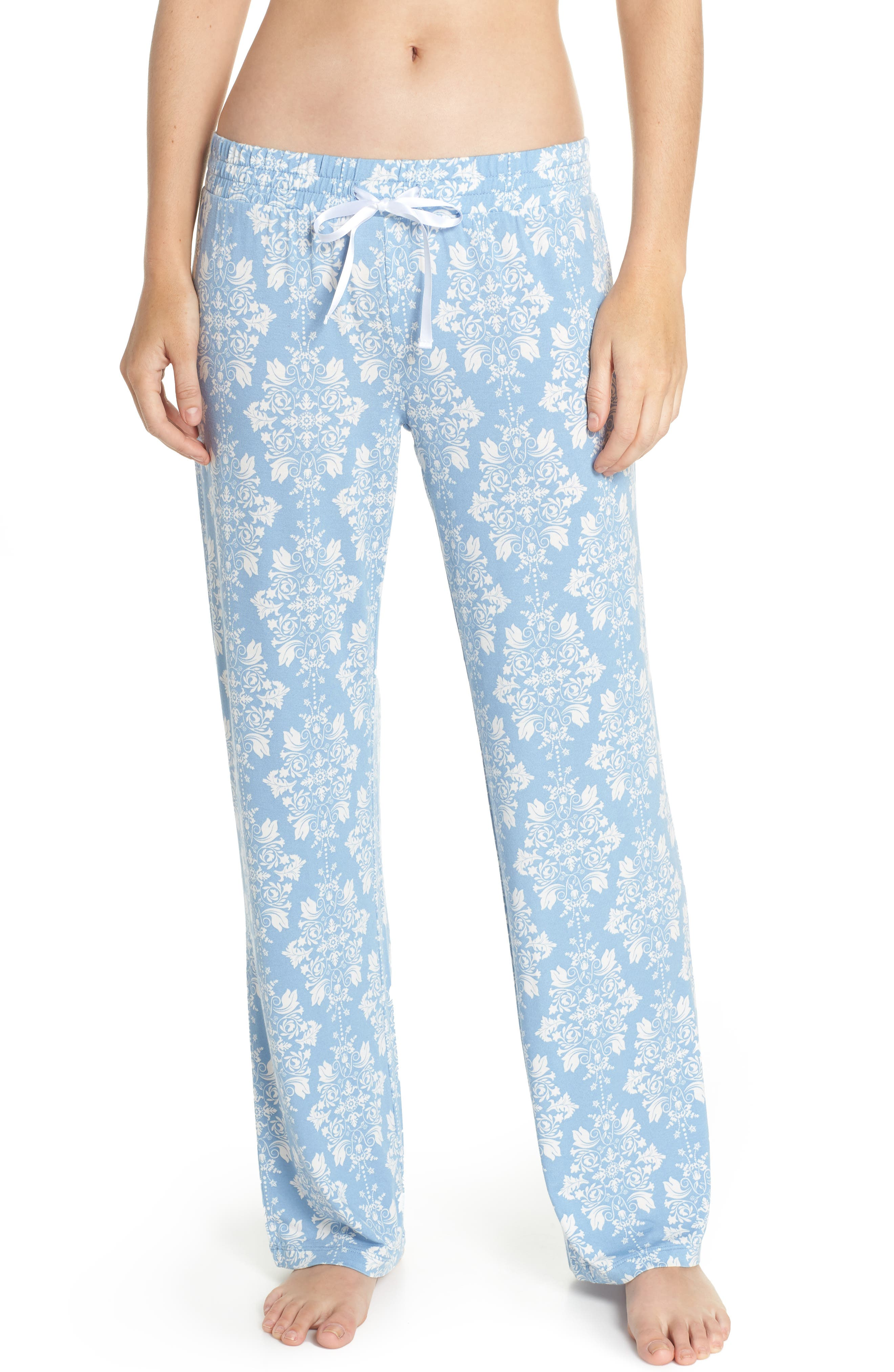 Jersey Pajama Pants,                         Main,                         color, Blue