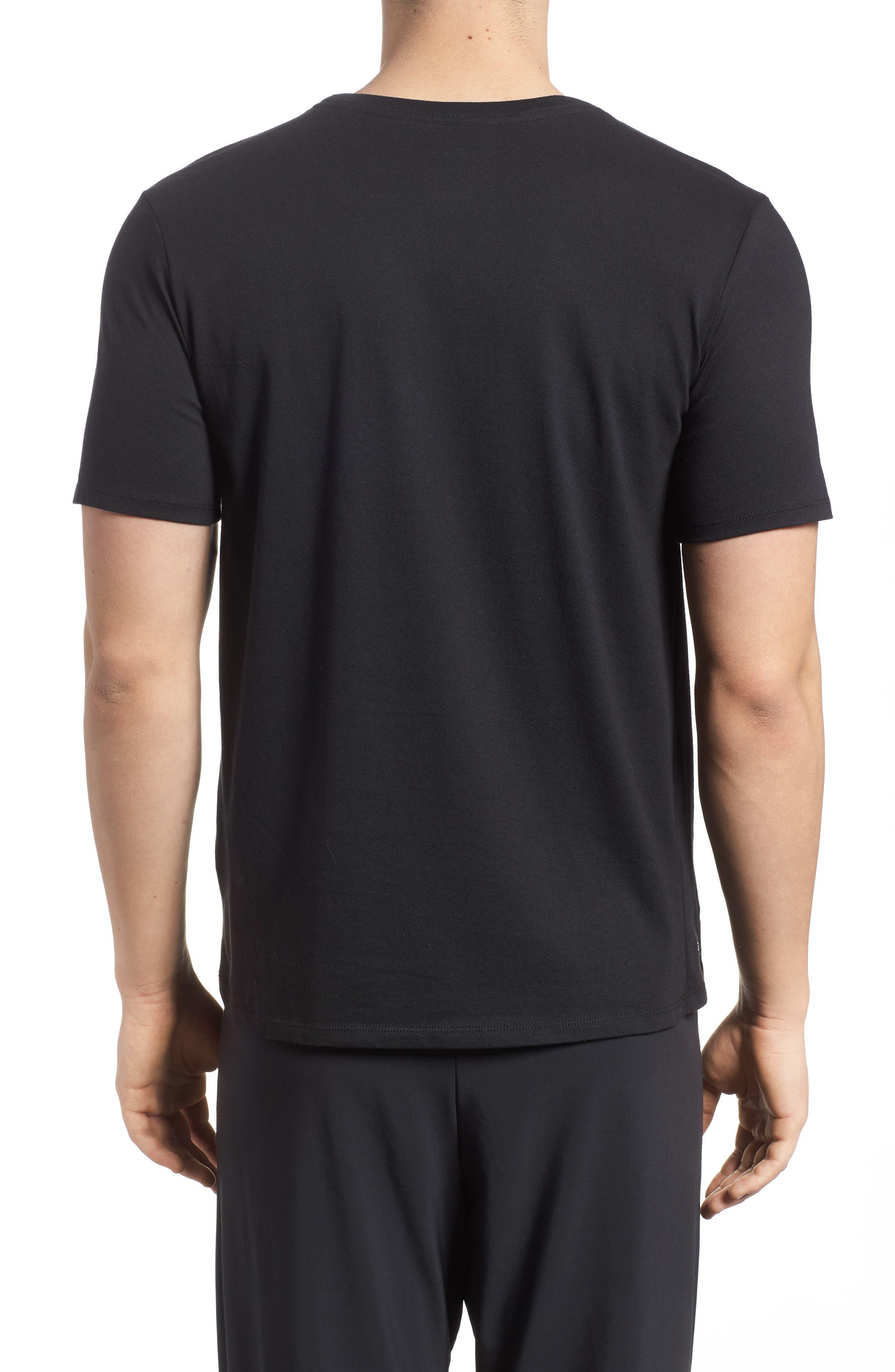Dry Hoops T-Shirt,                             Alternate thumbnail 2, color,                             Black/ White