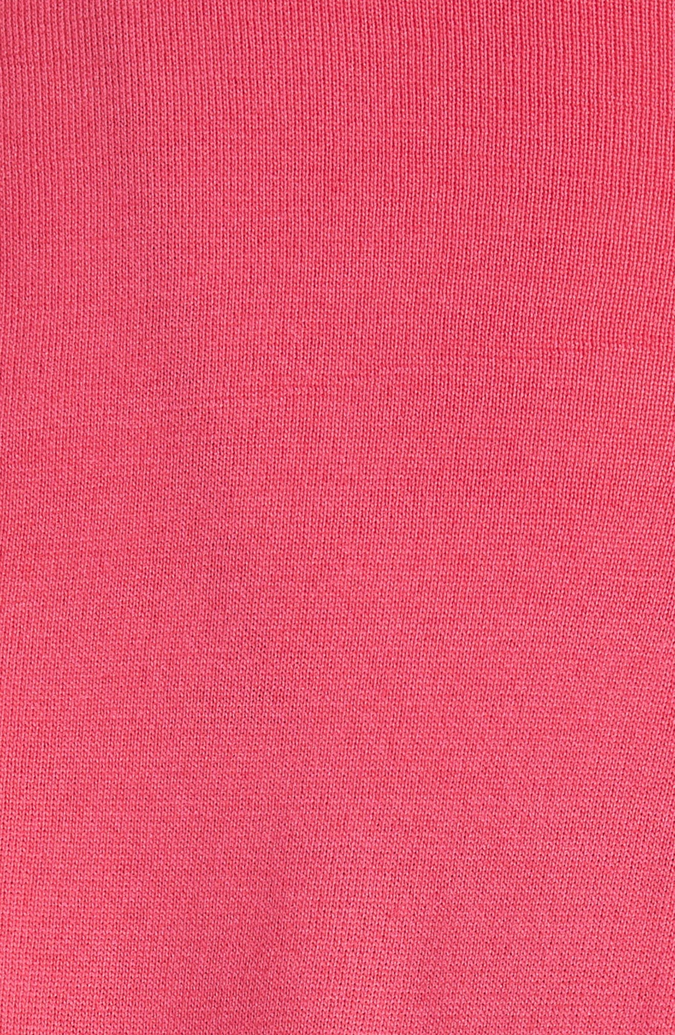 Maglia Ruffle Hem Tricot Cardigan,                             Alternate thumbnail 5, color,                             Fuchsia