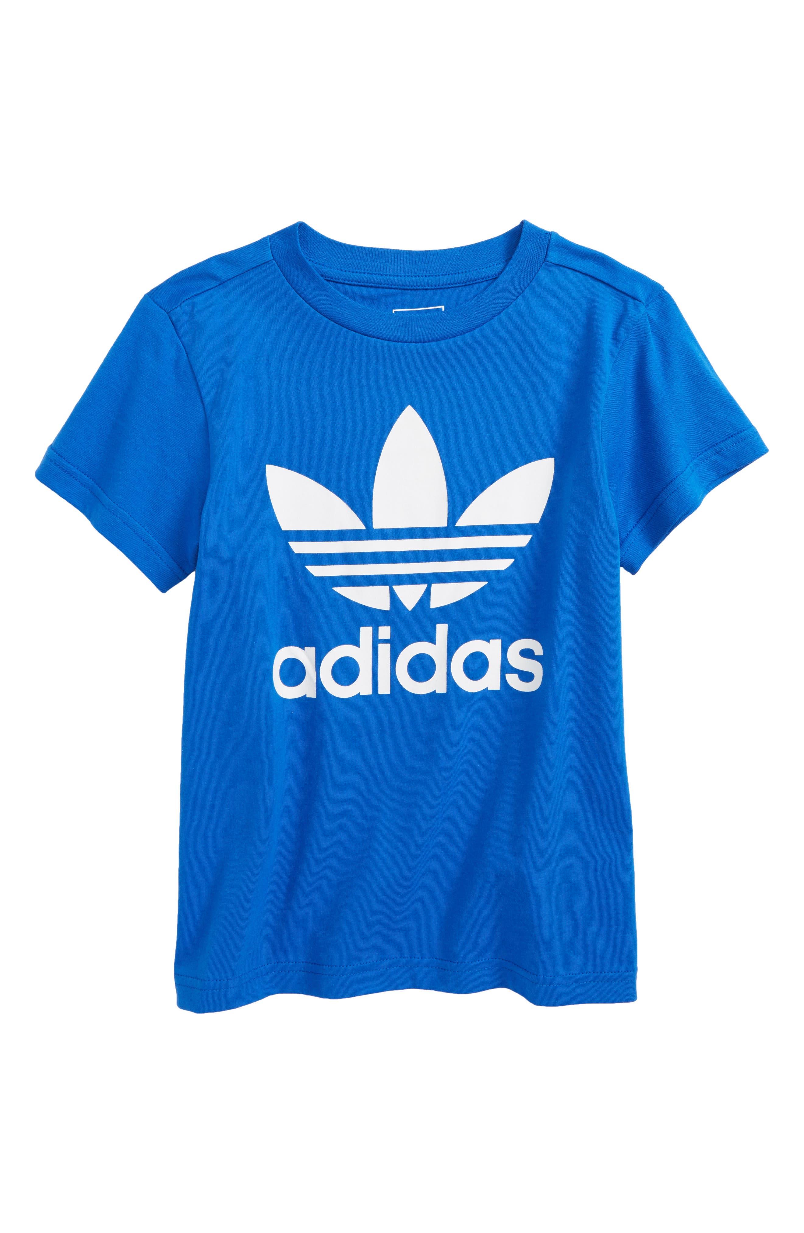 Alternate Image 1 Selected - adidas Trefoil Logo T-Shirt (Little Boys & Big Boys)