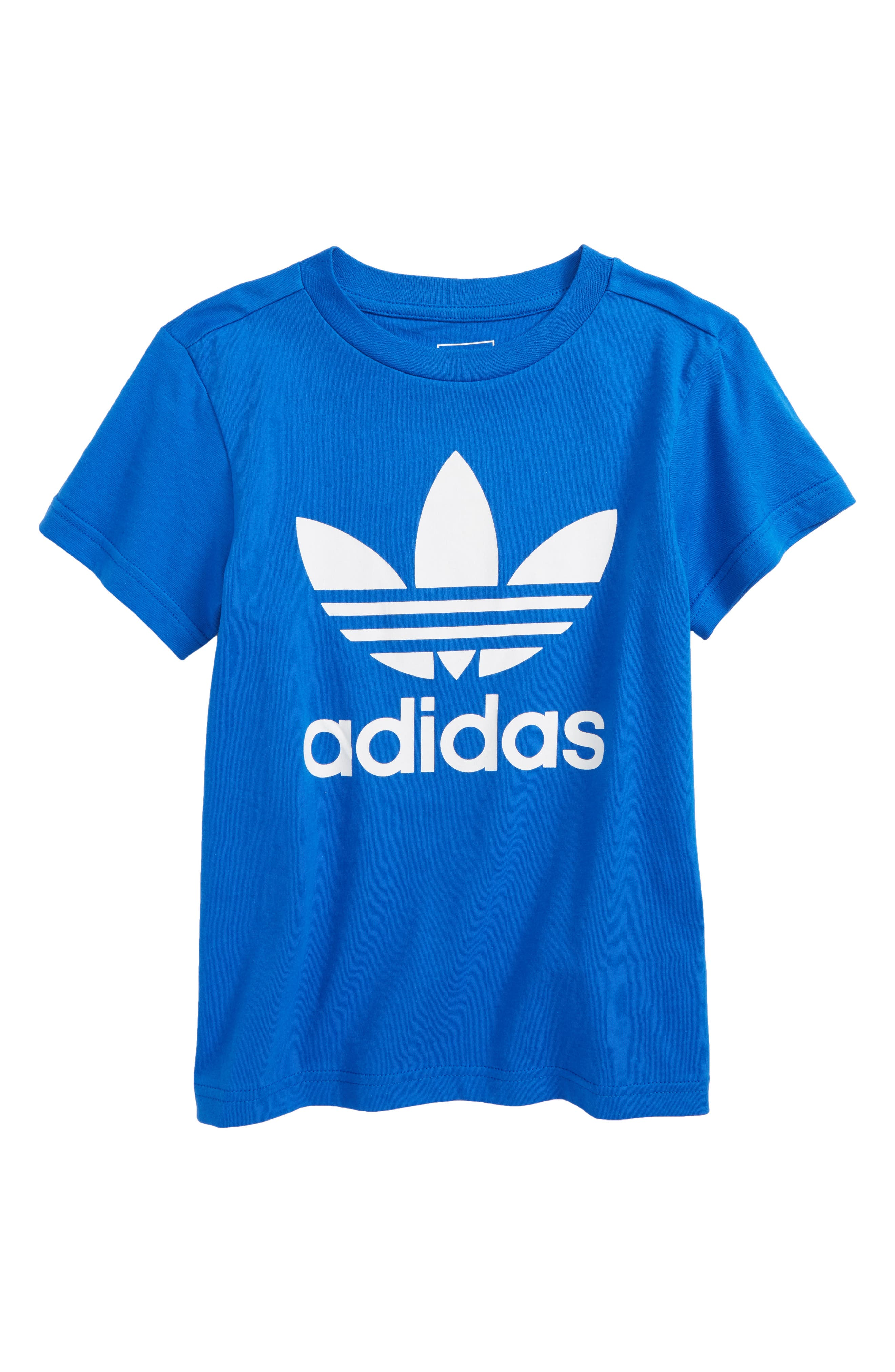 Main Image - adidas Trefoil Logo T-Shirt (Little Boys & Big Boys)