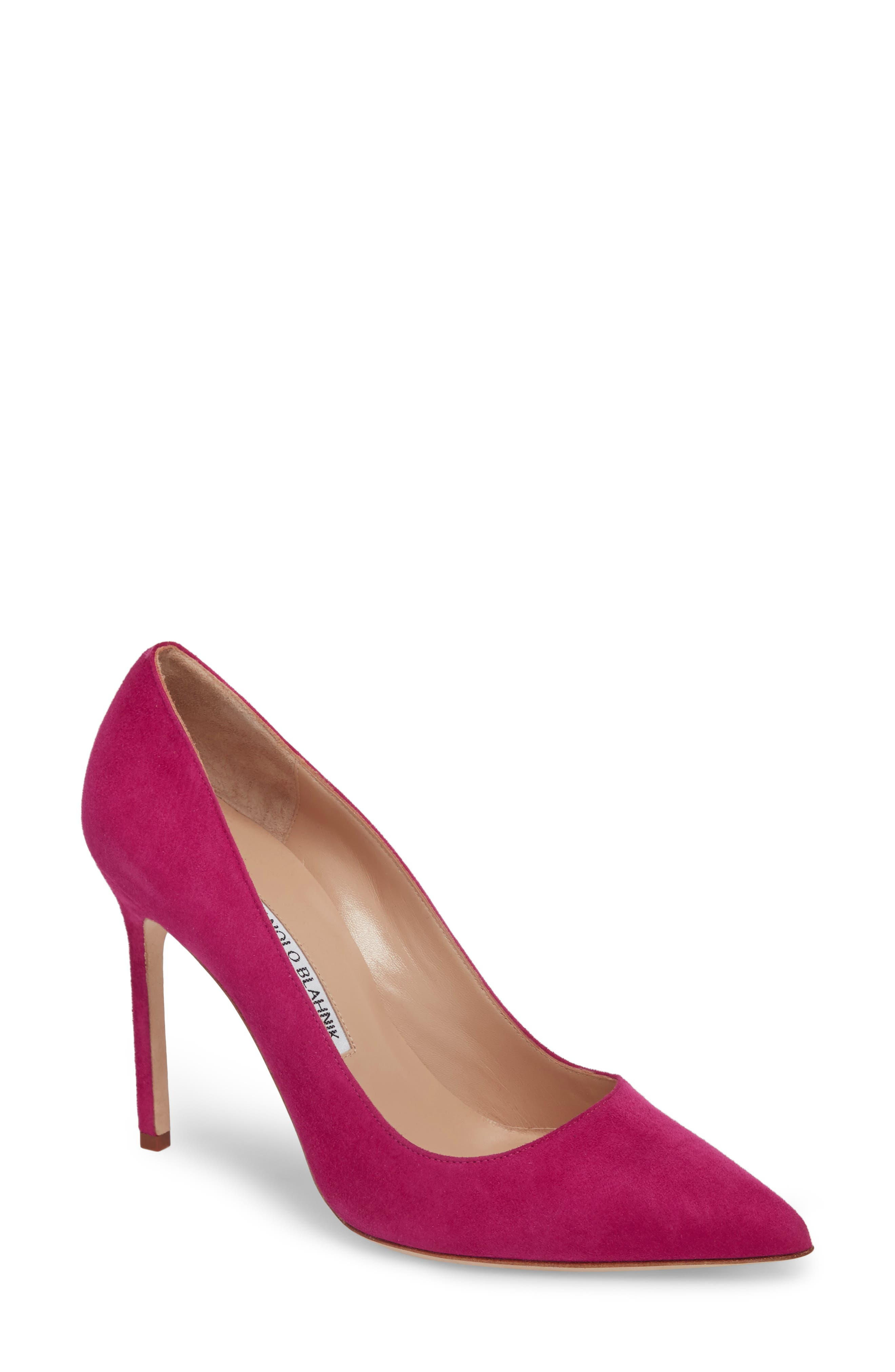 'BB' Pointy Toe Pump,                             Main thumbnail 1, color,                             Magenta