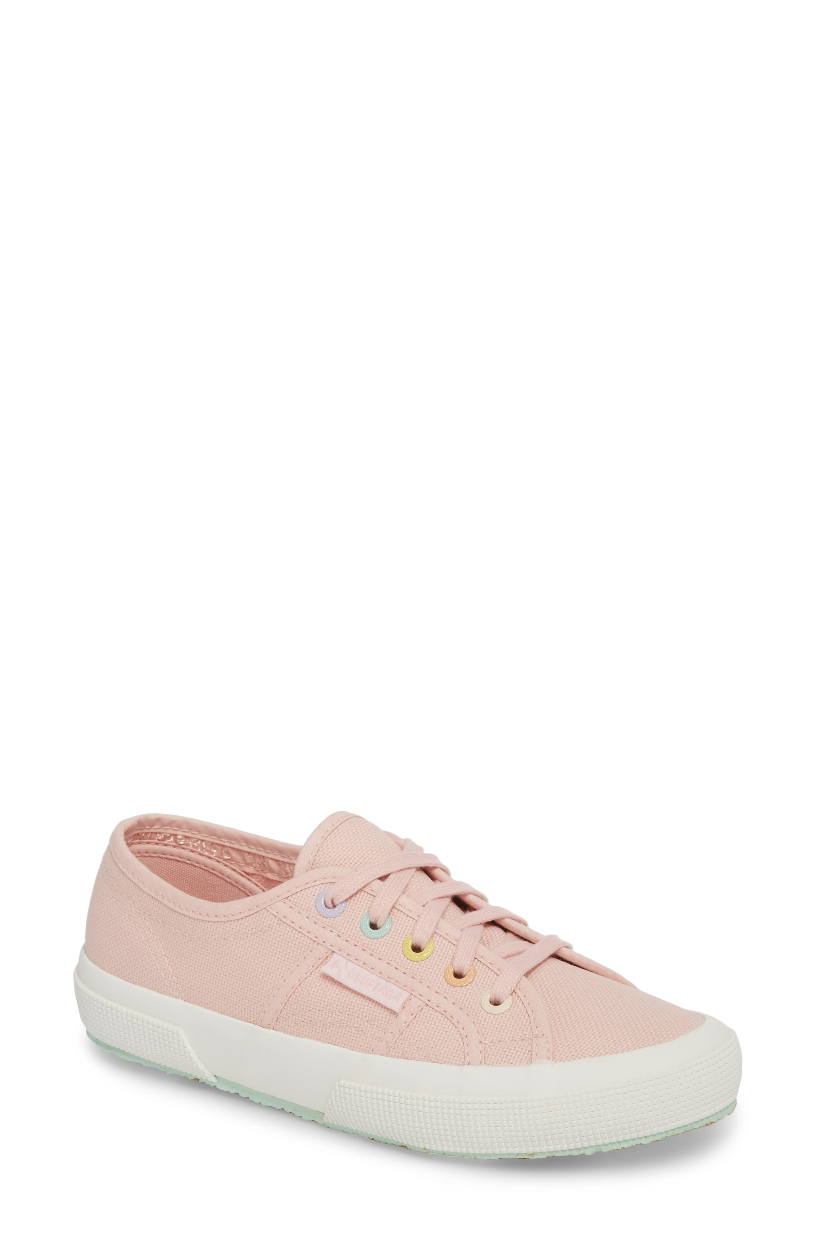 2750 Rainbow Sneaker,                             Main thumbnail 1, color,                             Light Pink