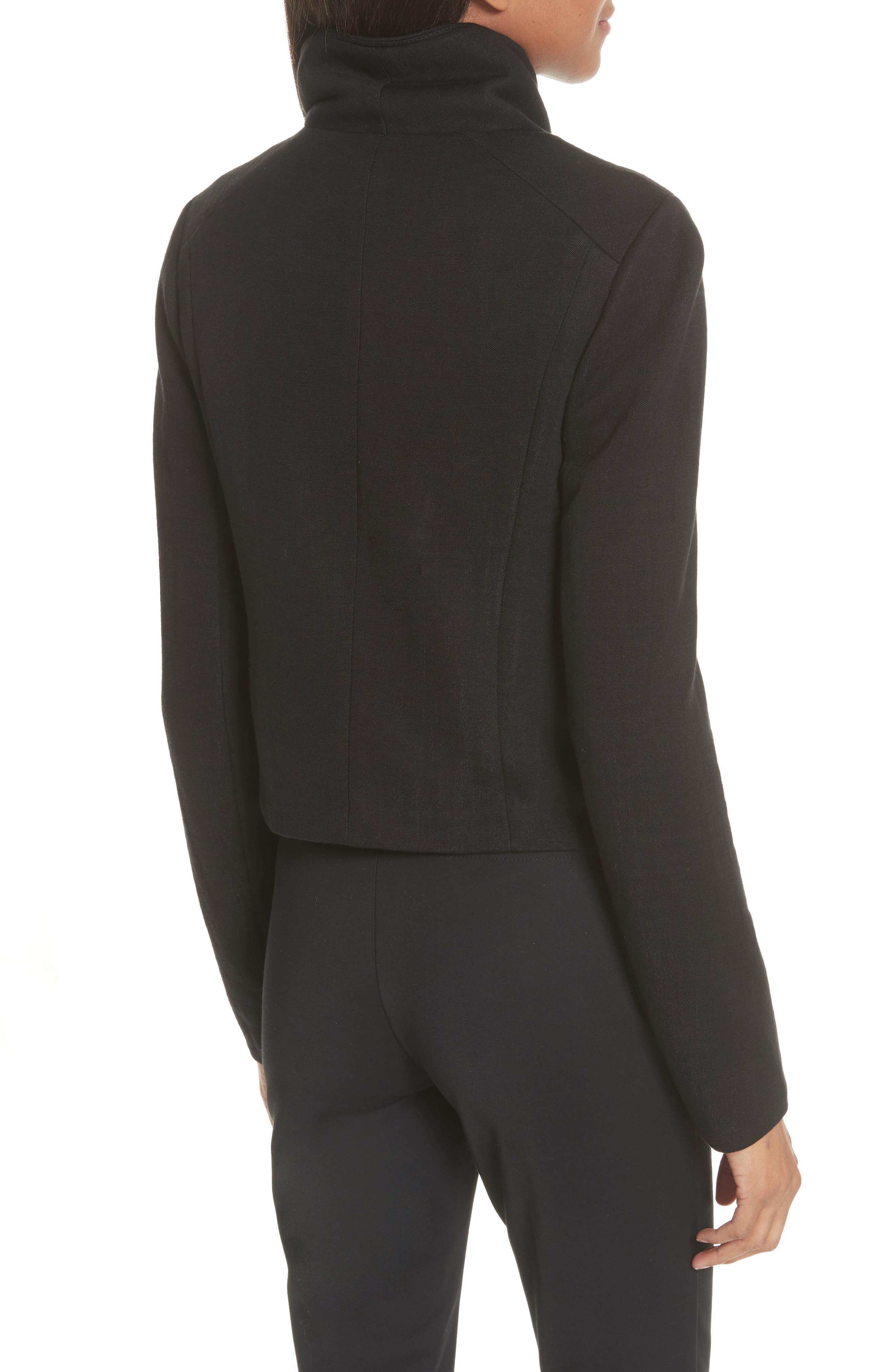 Knit Moto Jacket,                             Alternate thumbnail 2, color,                             Black