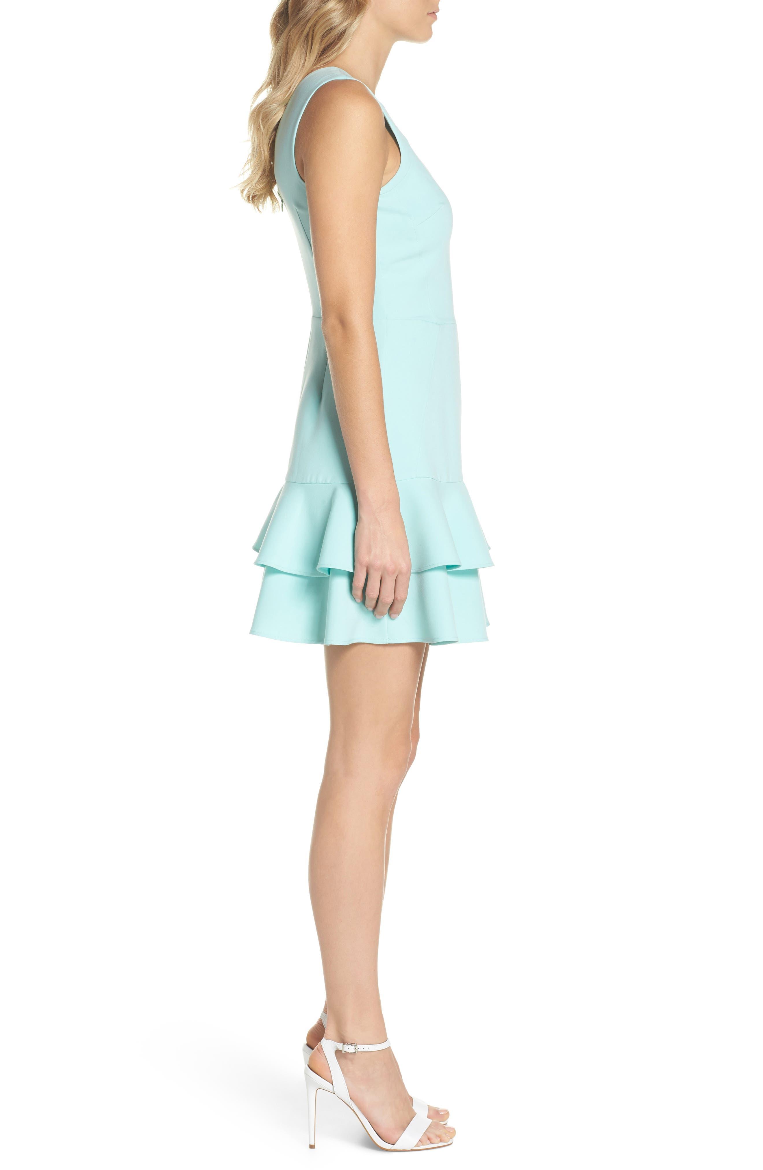 Lavinia Fit & Flare Dress,                             Alternate thumbnail 3, color,                             Mint