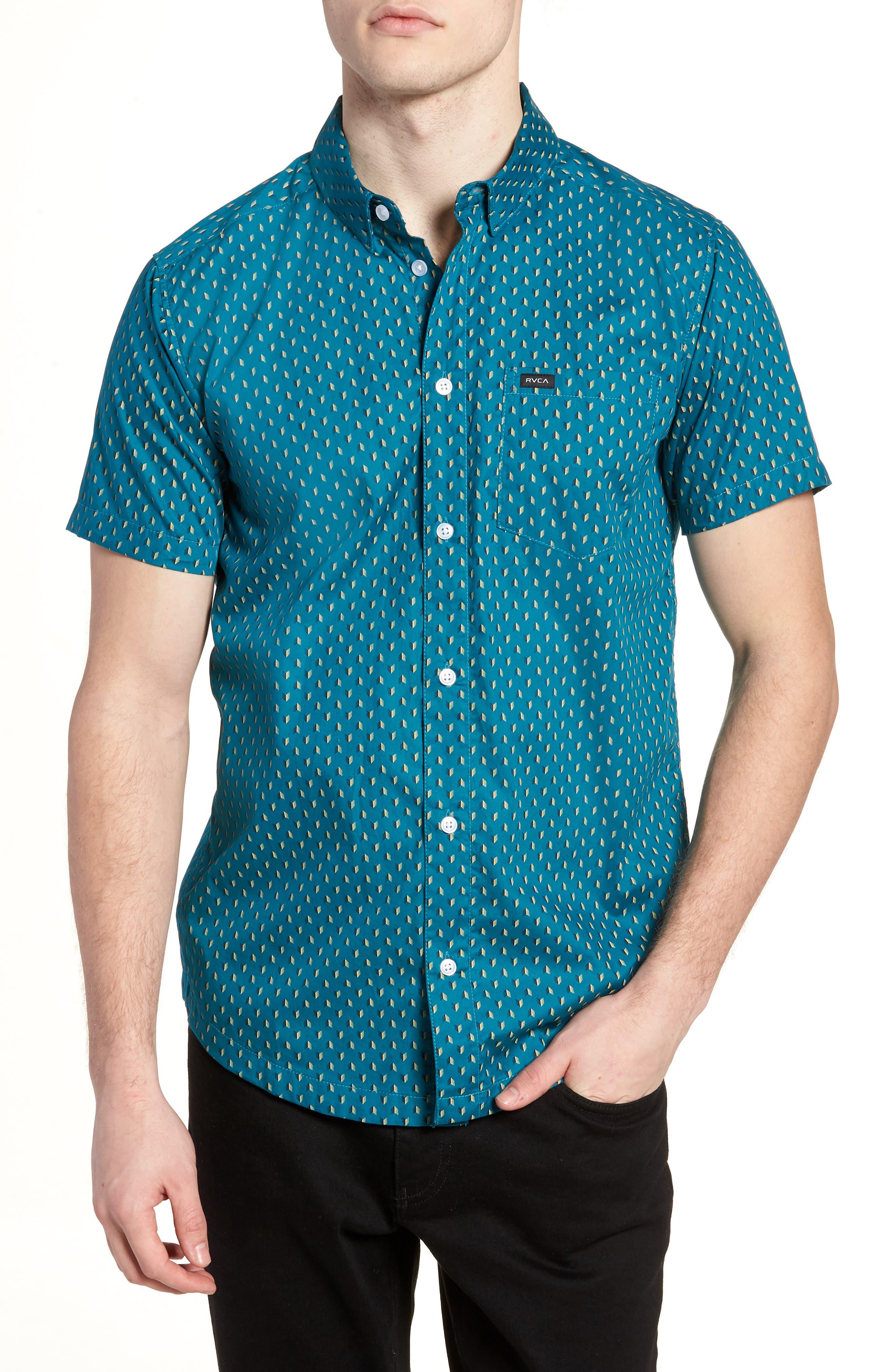 Arrowed Woven Shirt,                         Main,                         color, Blue Tide