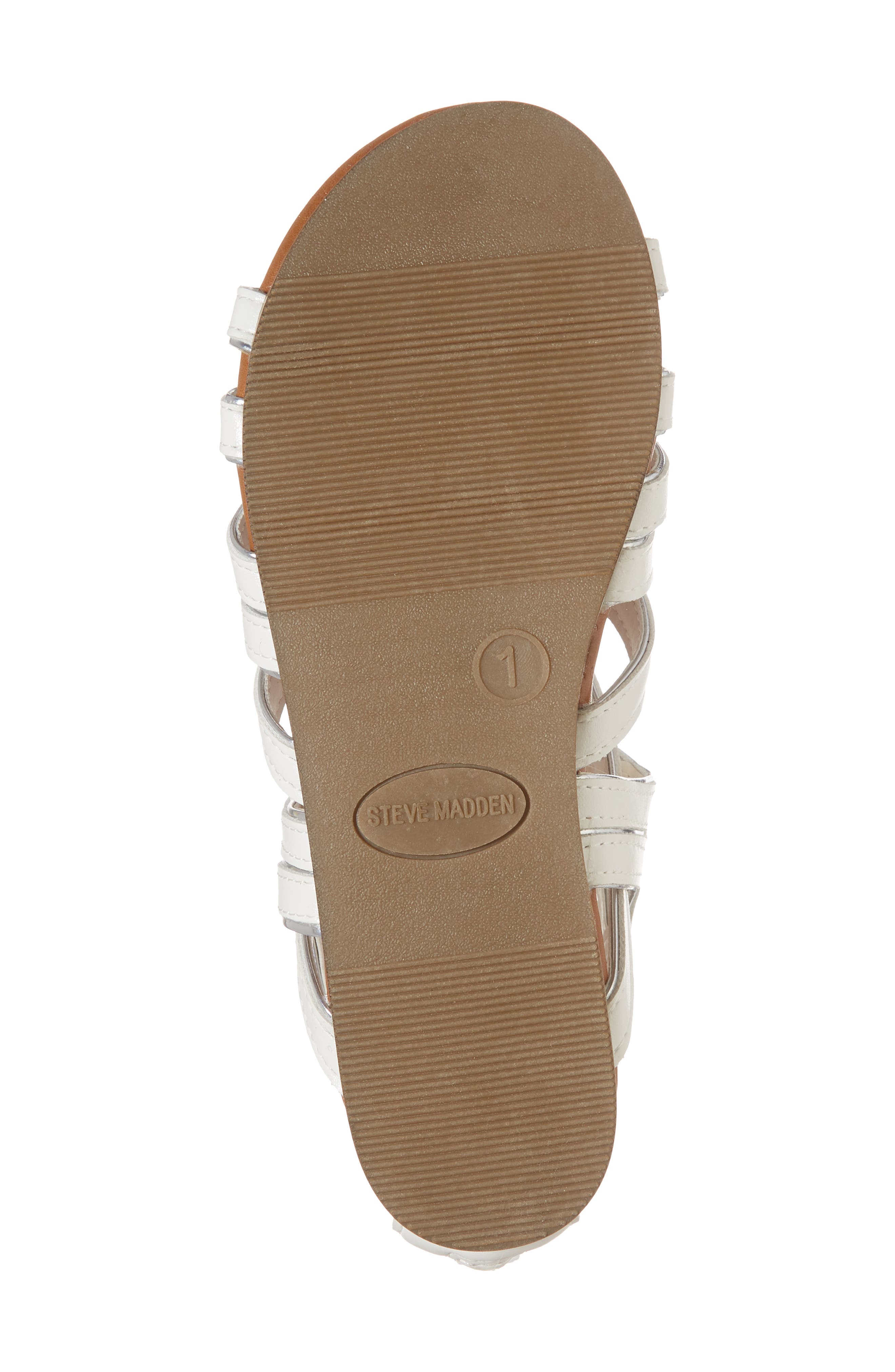 Jessence Gladiator Sandal,                             Alternate thumbnail 6, color,                             White