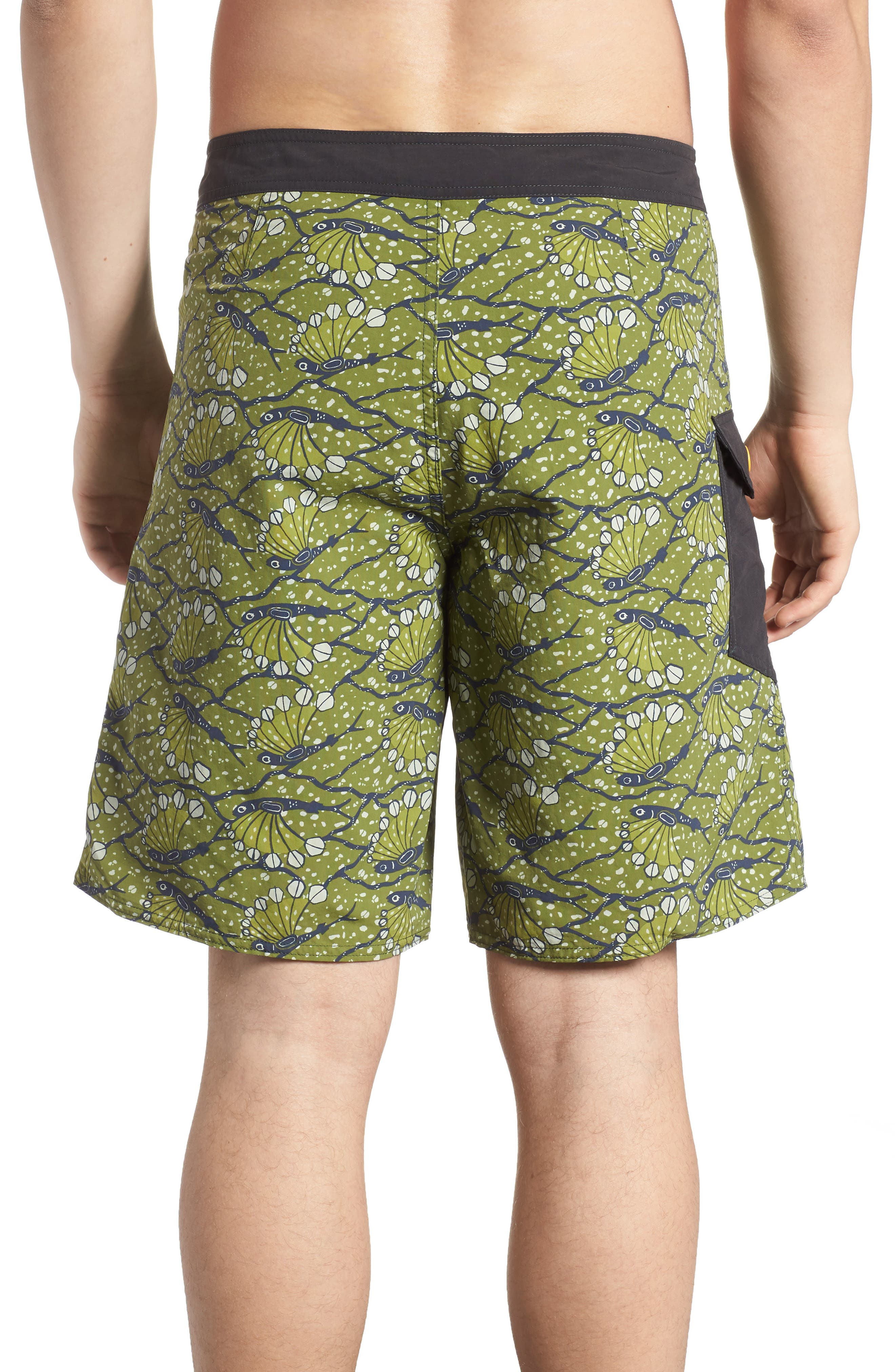 Wavefarer Board Shorts,                             Alternate thumbnail 2, color,                             Hexy Fish Sprouted Green