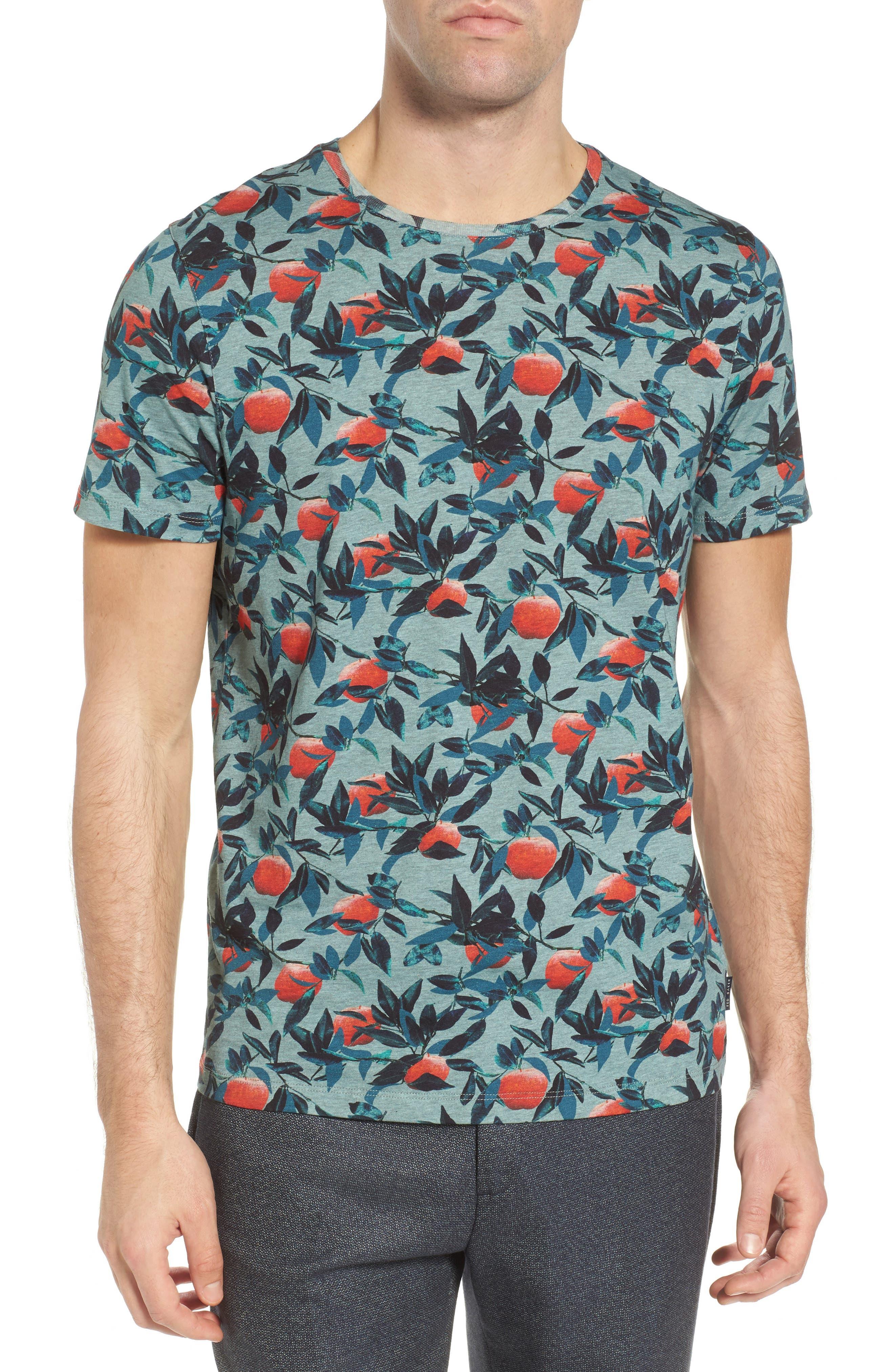 Fithe Apple Print T-Shirt,                         Main,                         color, Light Blue