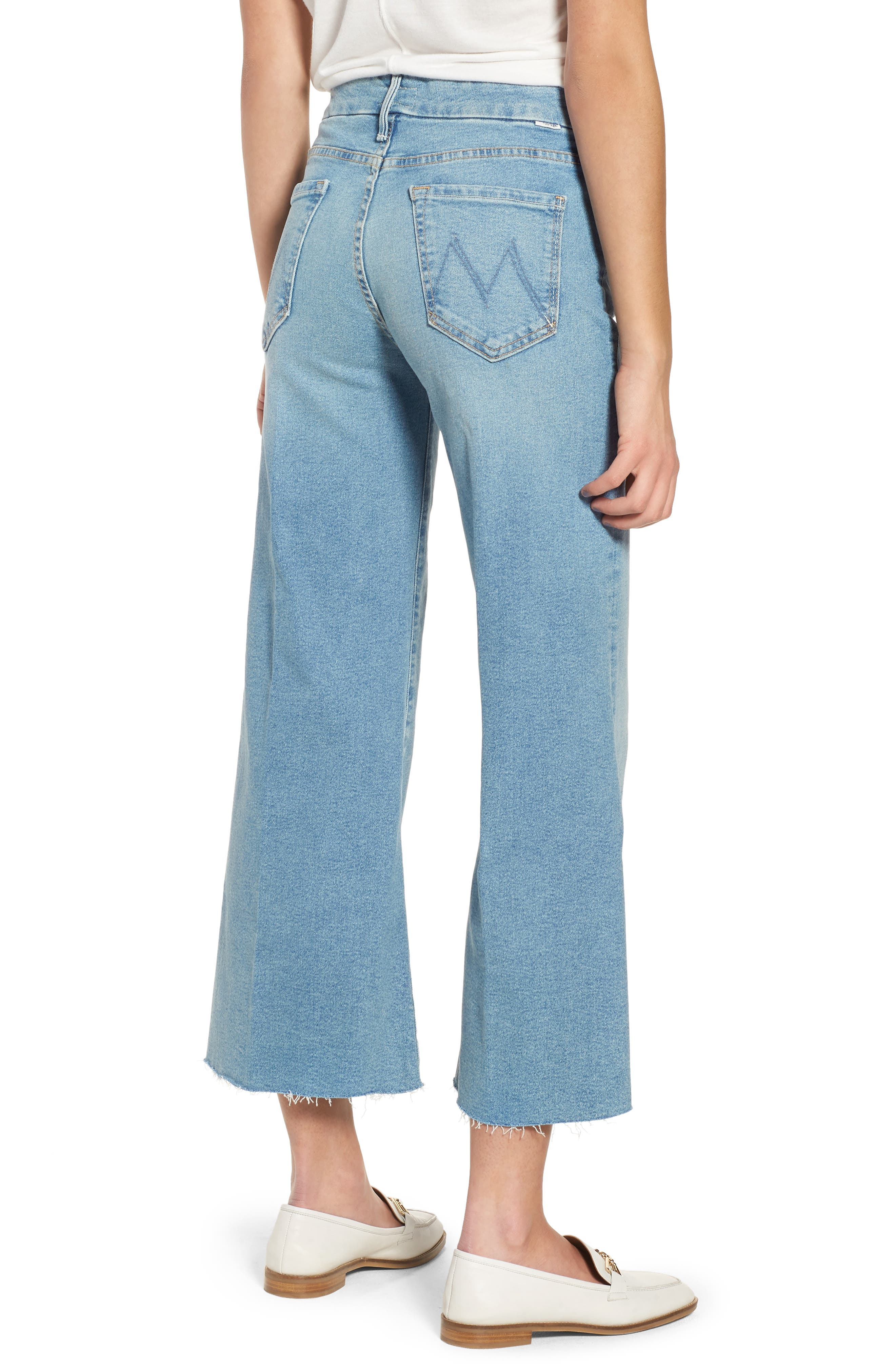 The Roller Crop Fray Wide Leg Jeans,                             Alternate thumbnail 2, color,                             Ready To Roll