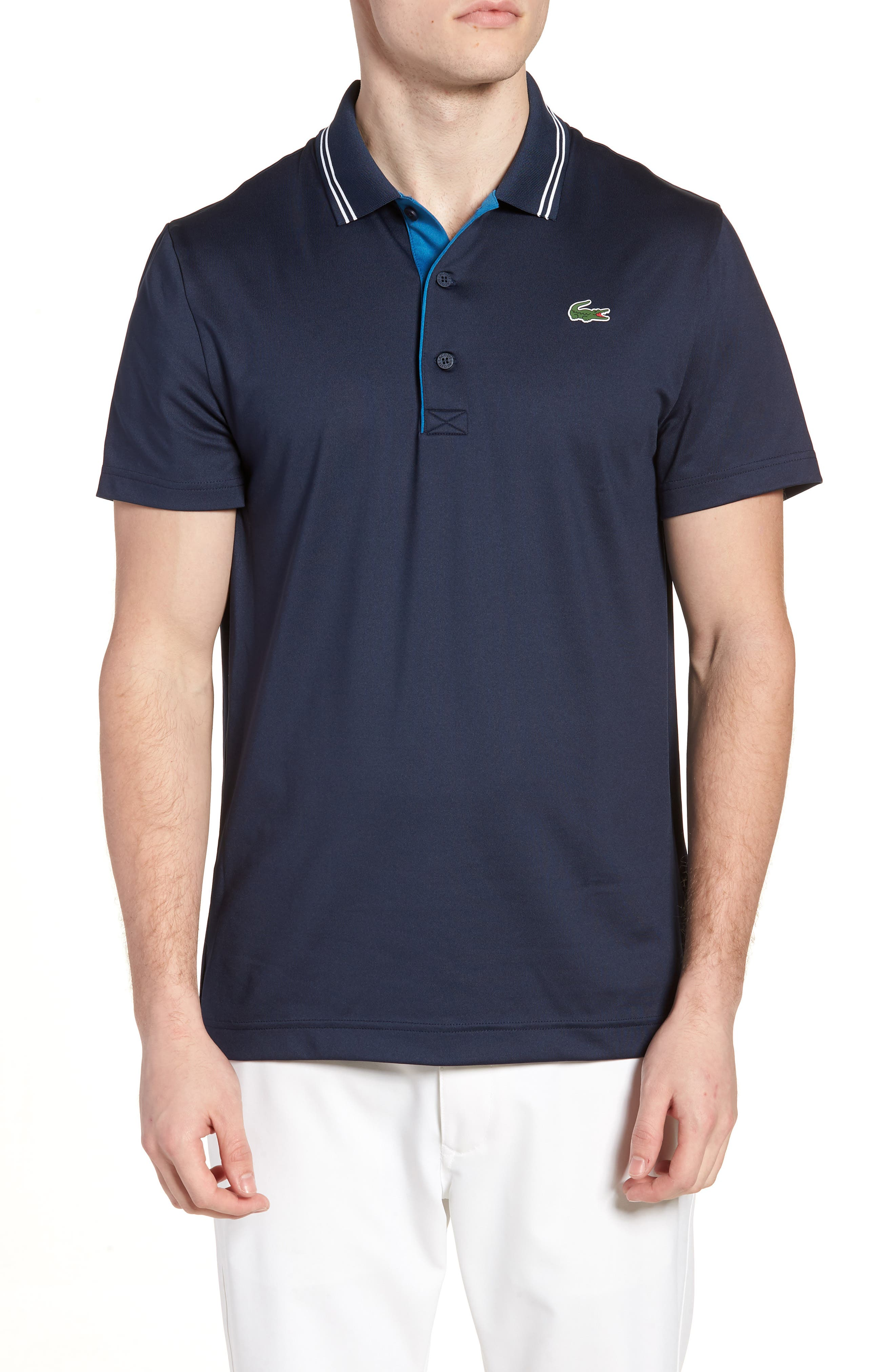 Lacoste Sport Lettering Stretch Tech Jersey Polo
