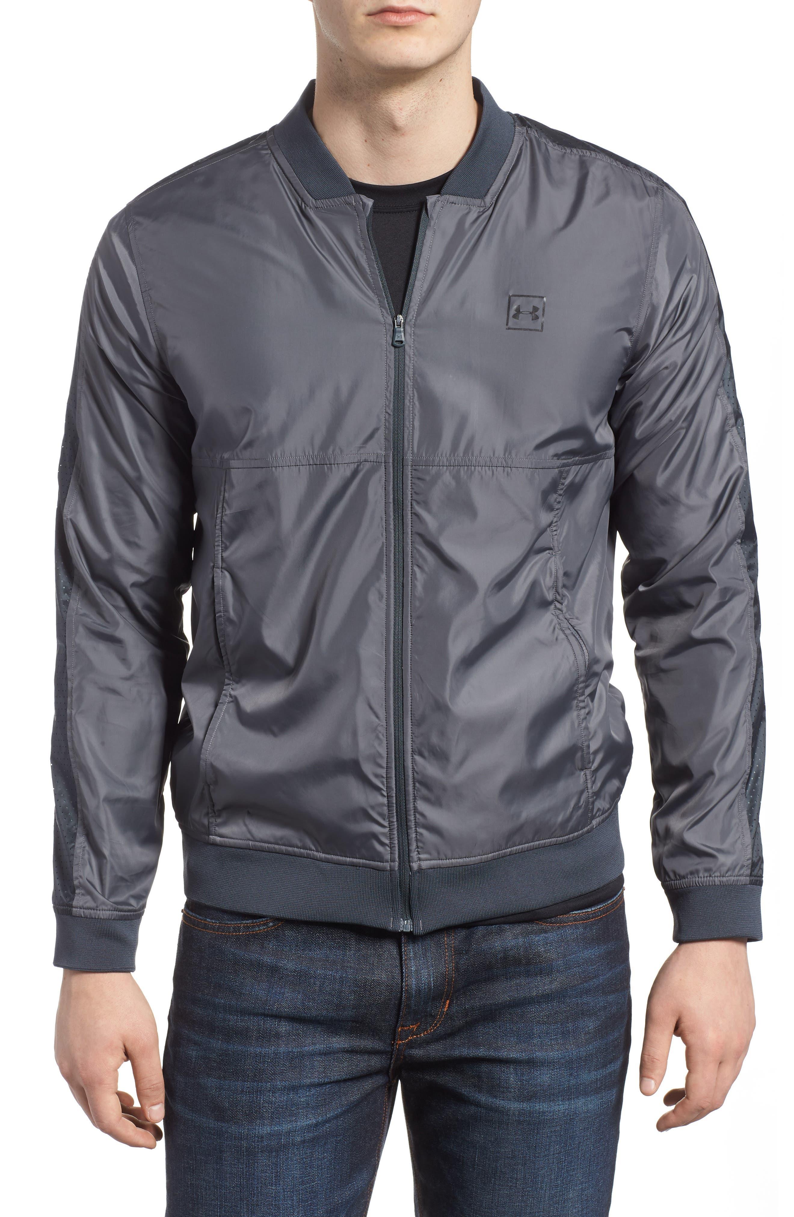 Sportstyle Wind Bomber Jacket,                         Main,                         color, Graphite/ Black