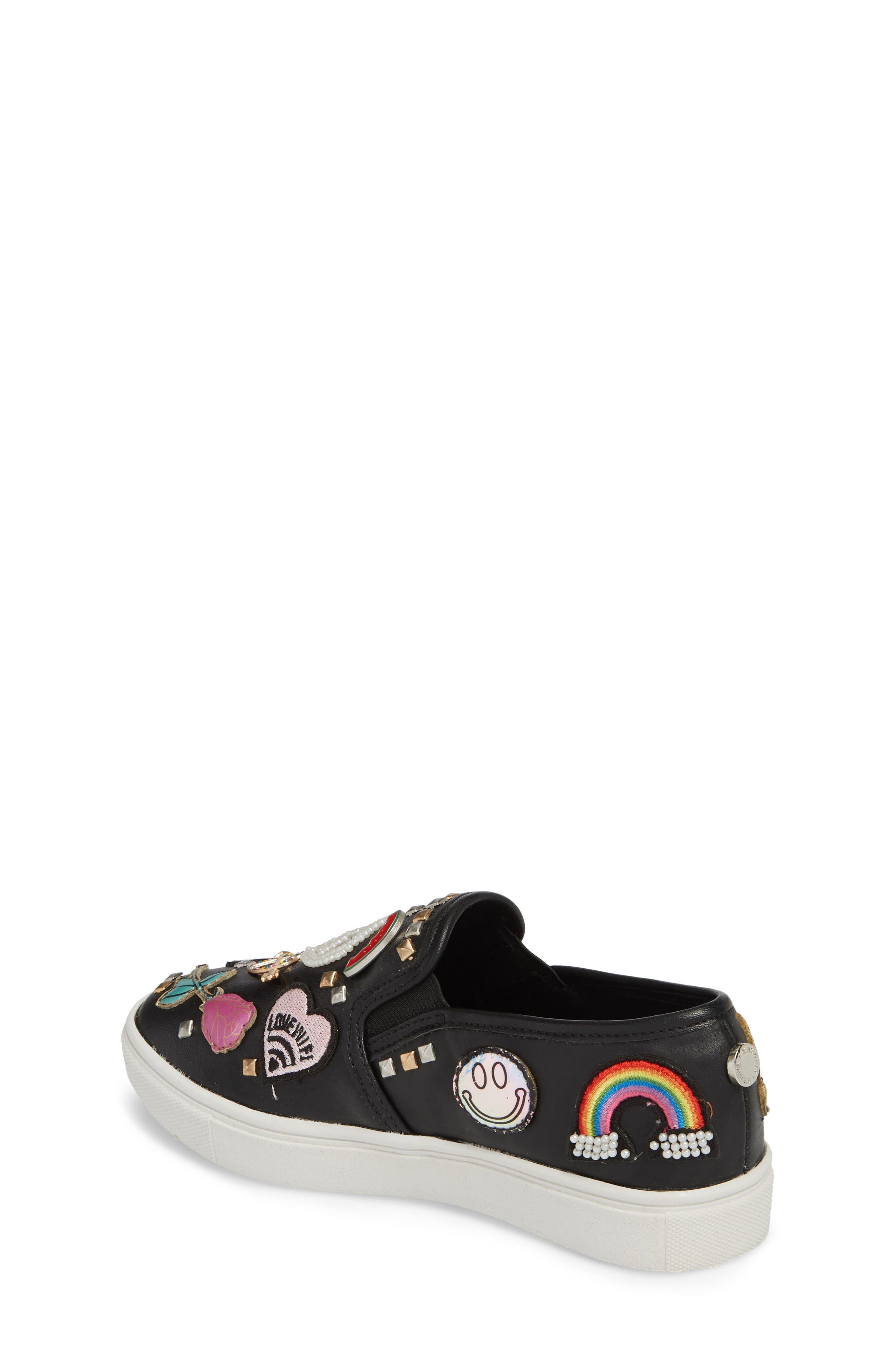 JCraze Embellished Slip-On Sneaker,                             Alternate thumbnail 2, color,                             Black