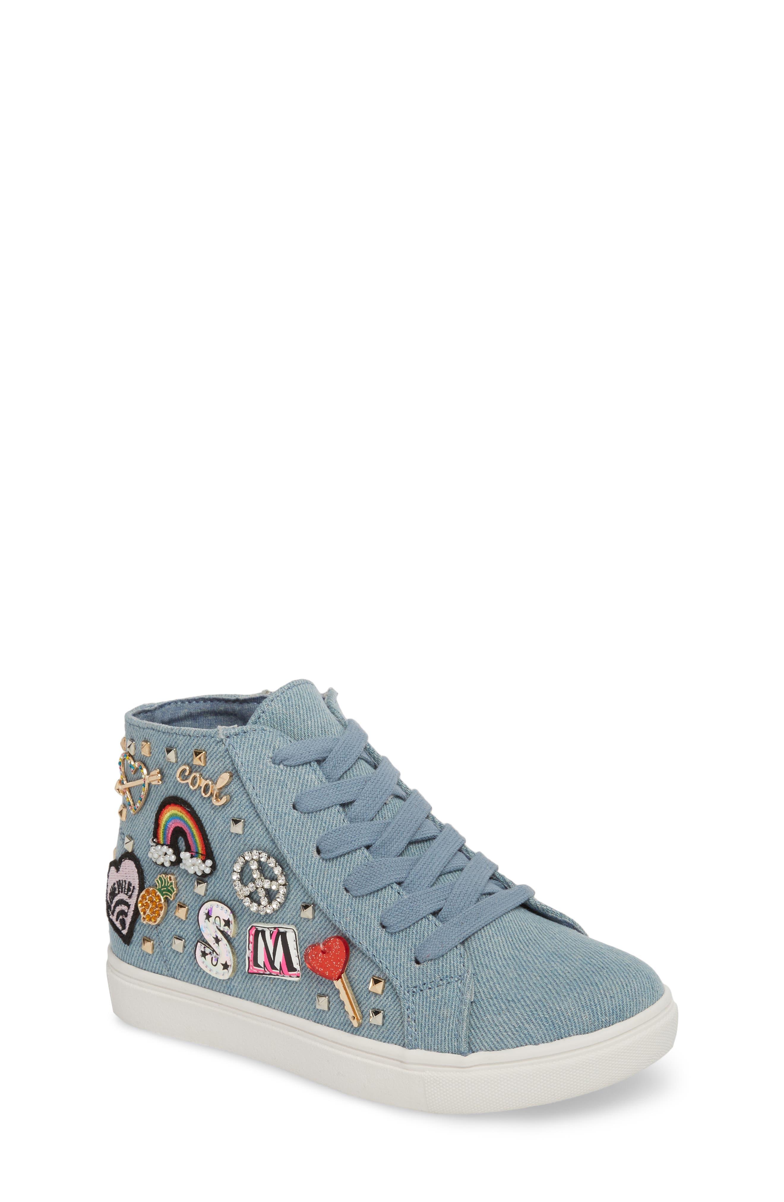 JKOOKIE High Top Sneaker,                         Main,                         color, Denim