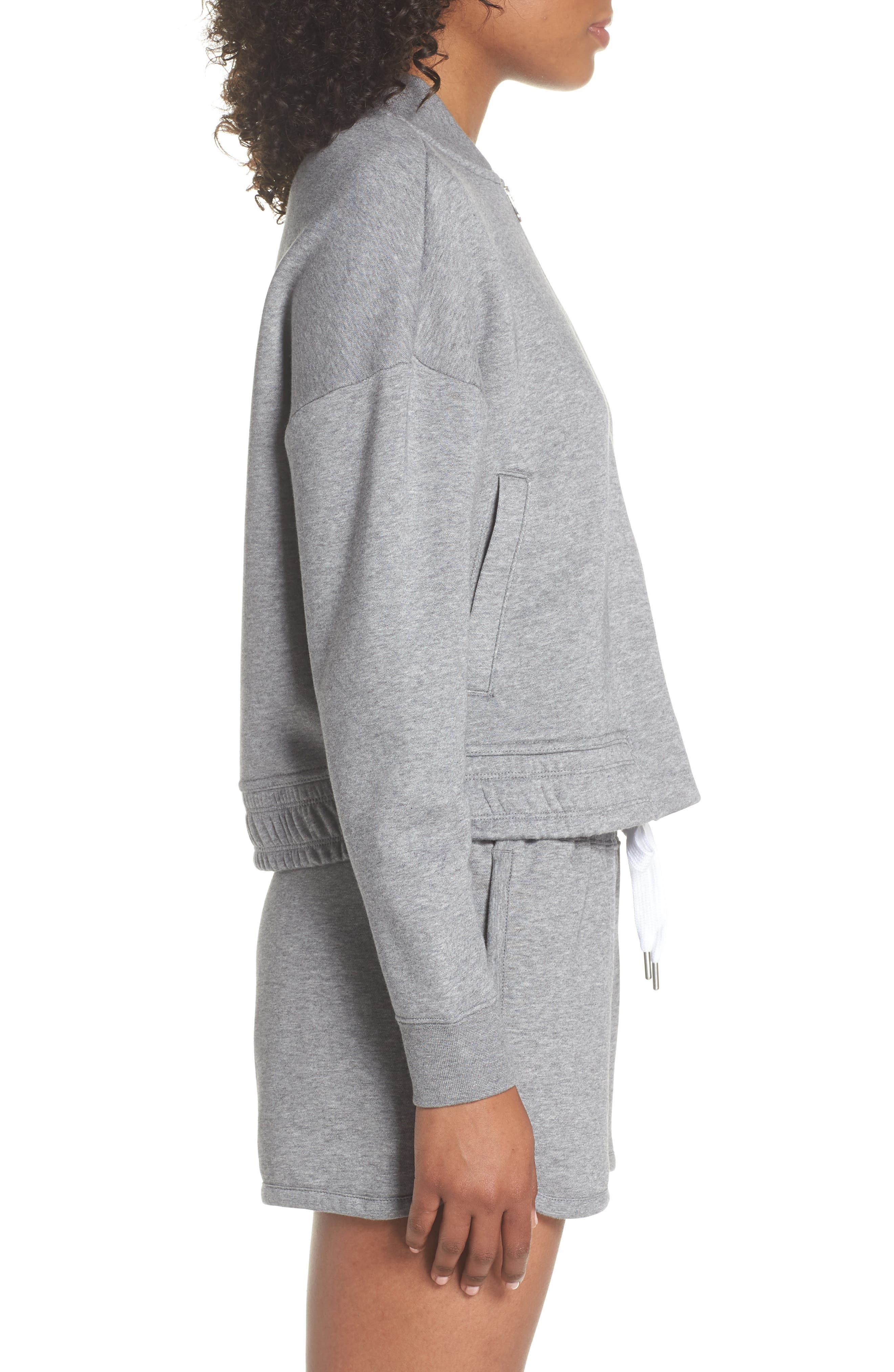 Sportswear Rally Jacket,                             Alternate thumbnail 3, color,                             Carbon Heather/ Cool Grey