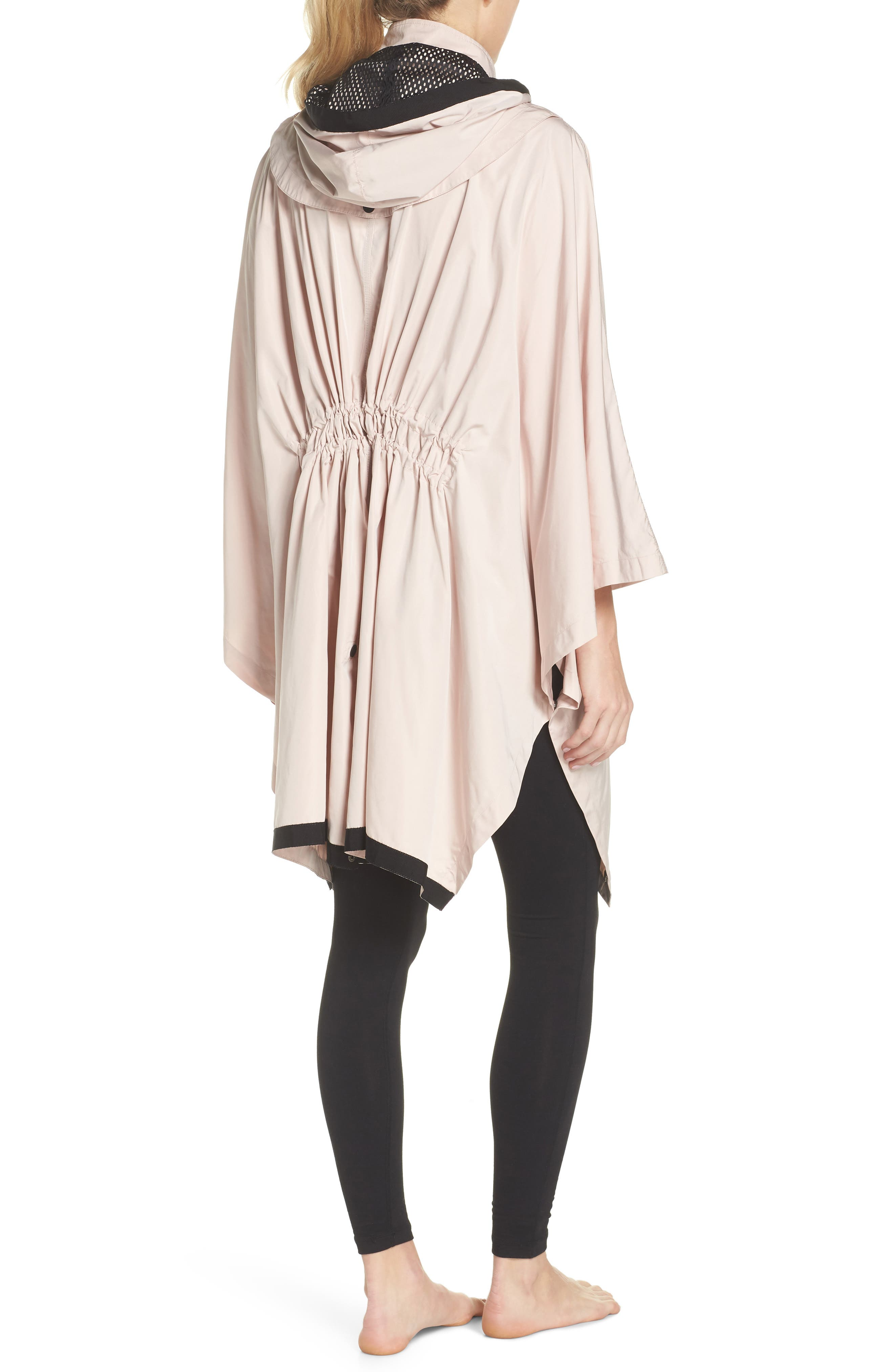 Stormie Poncho,                             Alternate thumbnail 2, color,                             Rose Grey/ Black
